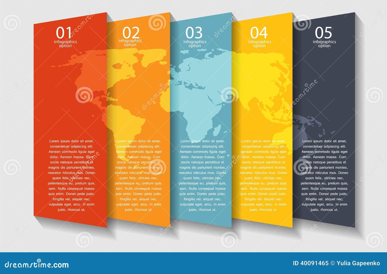 Διανυσματική απεικόνιση επιχειρησιακών προτύπων Infographic