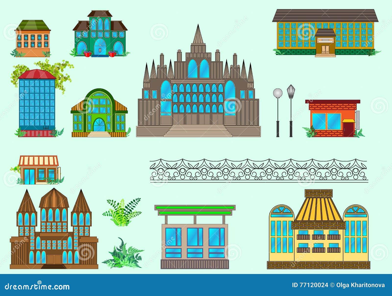 Διανυσματική απεικόνιση σπιτιών