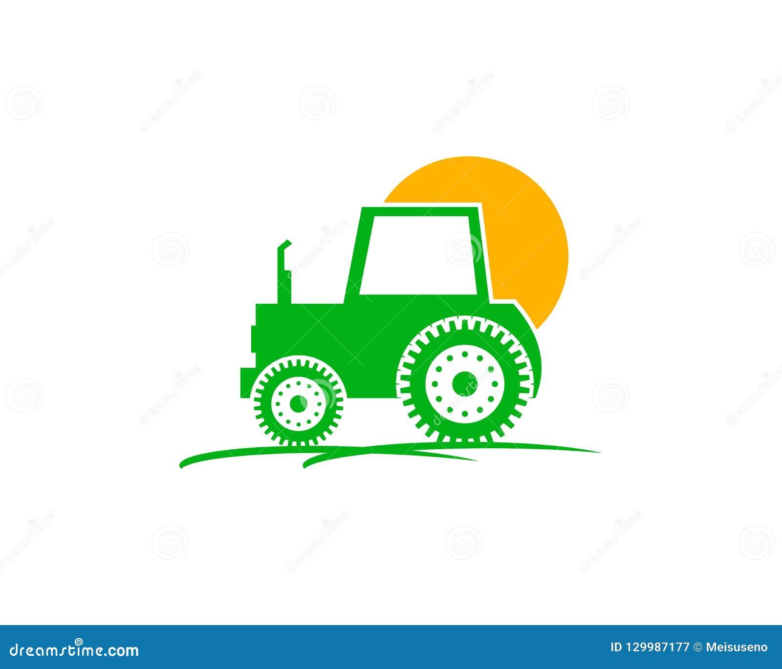 Διανυσματική απεικόνιση σχεδίου λογότυπων του αγροκτήματος τρακτέρ, έδαφος συγκομιδών, εδαφολογικό αγρόκτημα, πίσω αυλή, φυσικός,