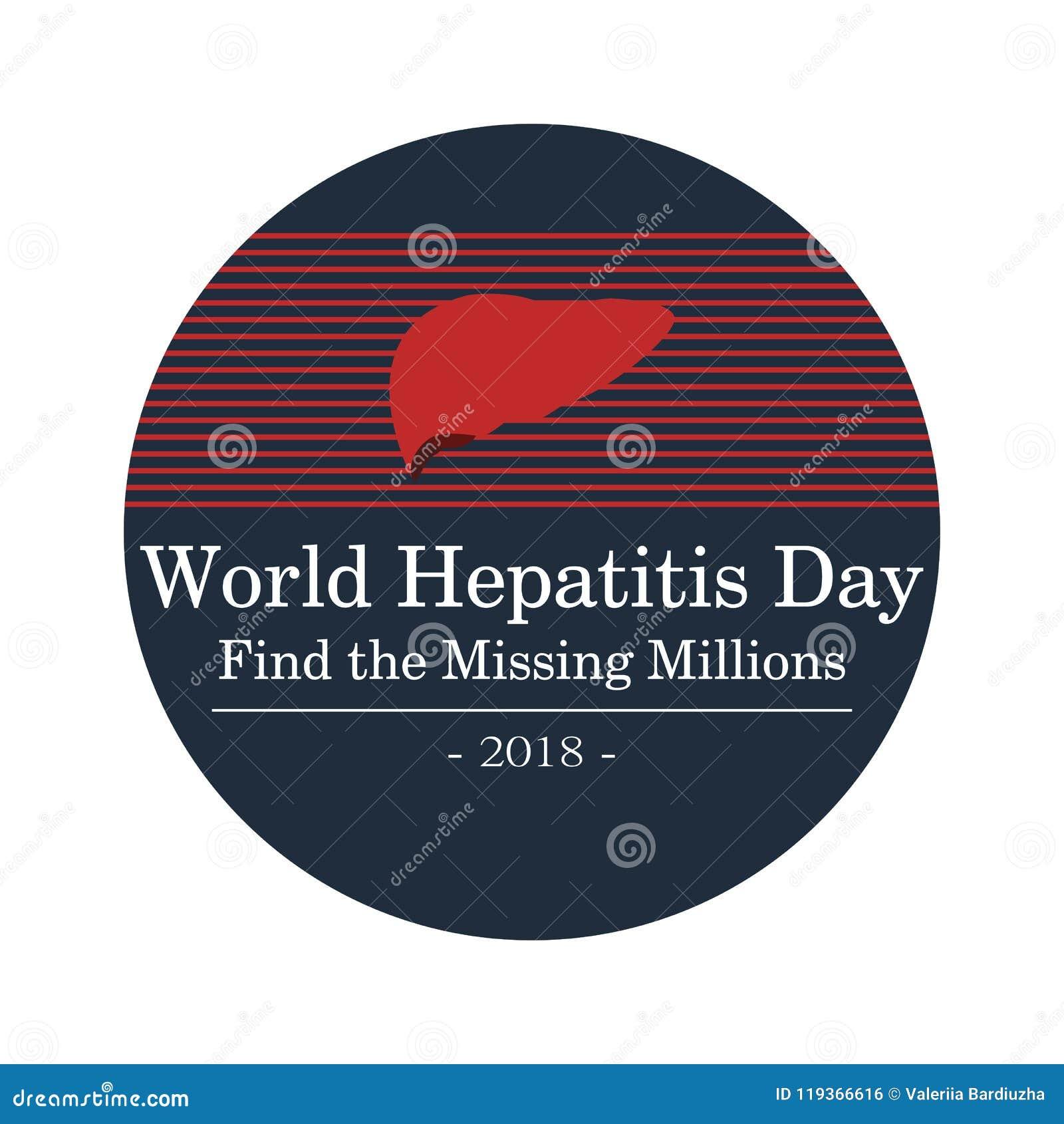 Διανυσματική απεικόνιση της ημέρας παγκόσμιας ηπατίτιδας