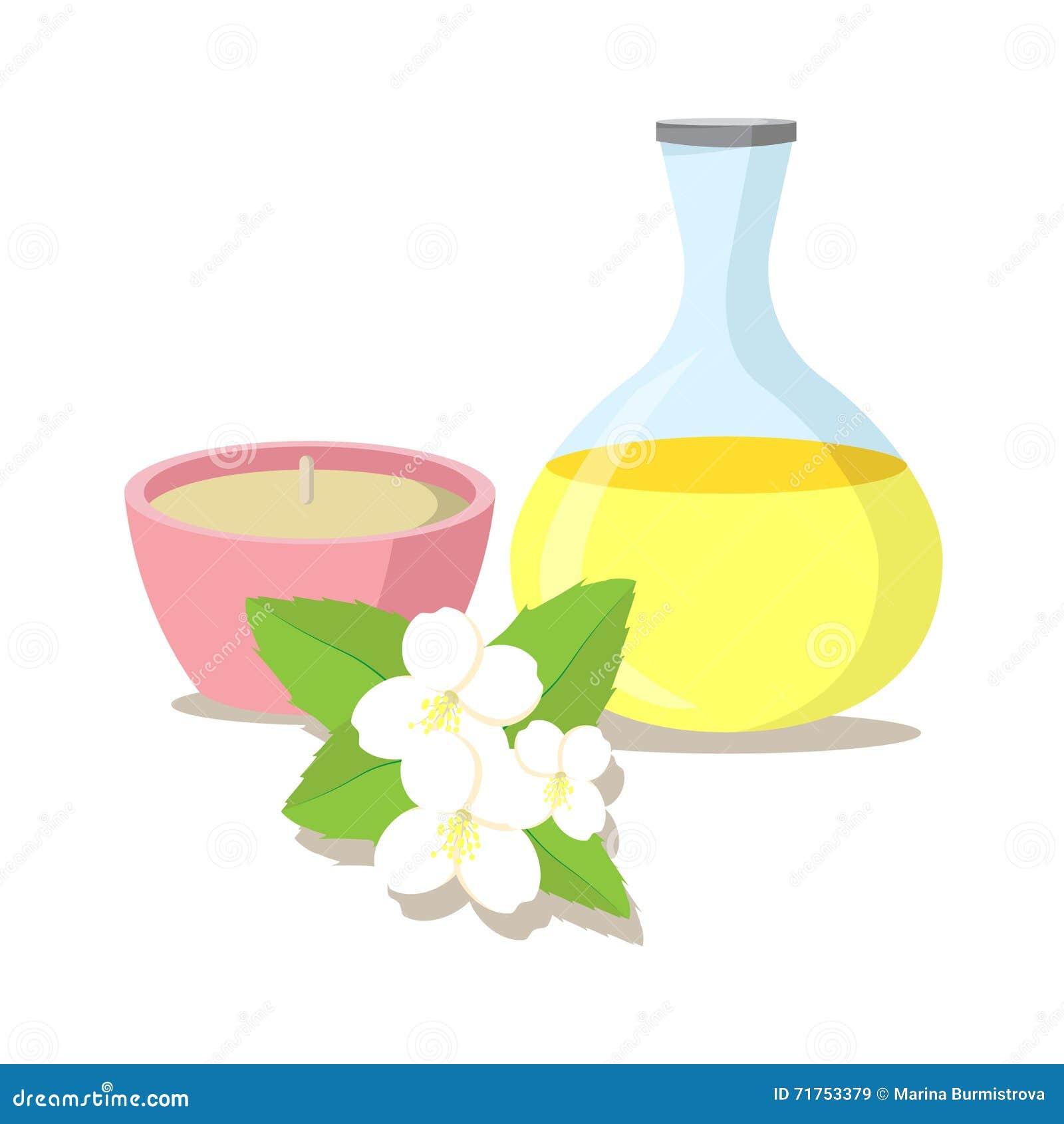 Διανυσματική απεικόνιση του ουσιαστικού πετρελαίου jasmine