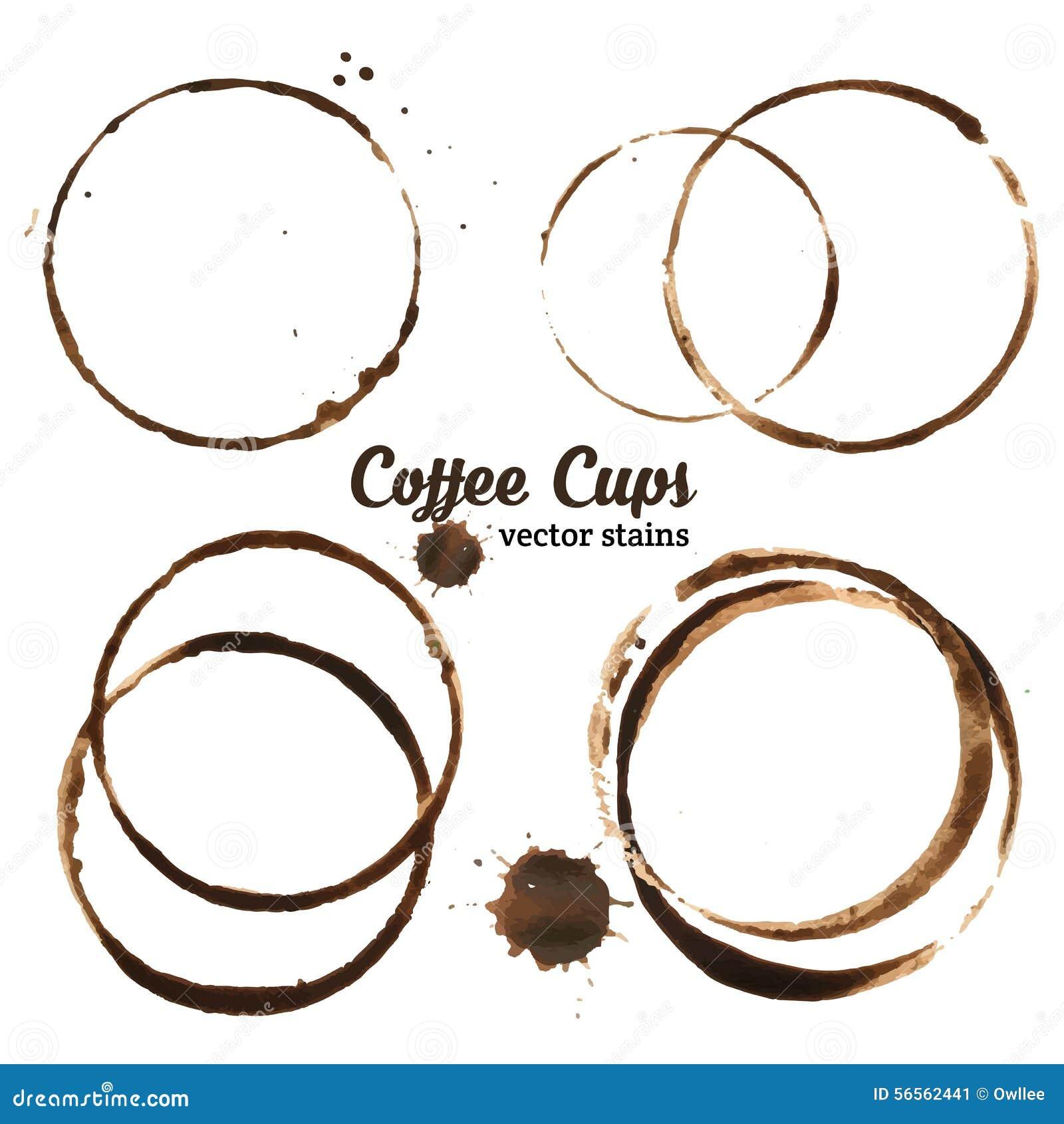 Download Διανυσματική απεικόνιση των λεκέδων φλυτζανιών καφέ Διανυσματική απεικόνιση - εικονογραφία από grunge, σπίτι: 56562441