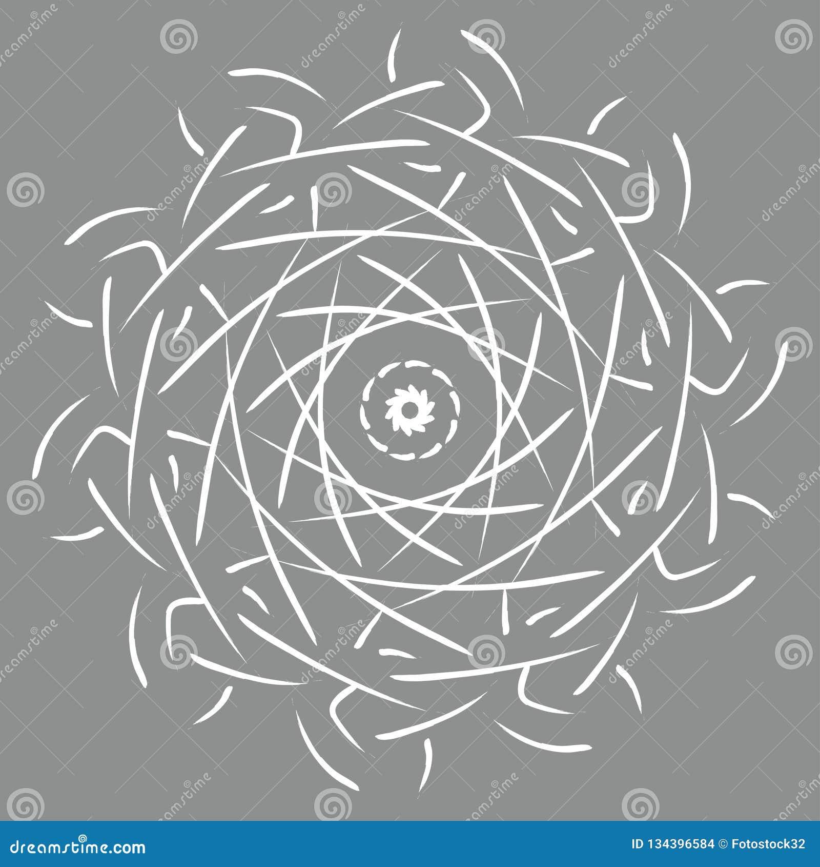 Διανυσματική απεικόνιση Mandala Στρογγυλό αφηρημένο floral ασιατικό σχέδιο, εκλεκτής ποιότητας διακοσμητικά στοιχεία