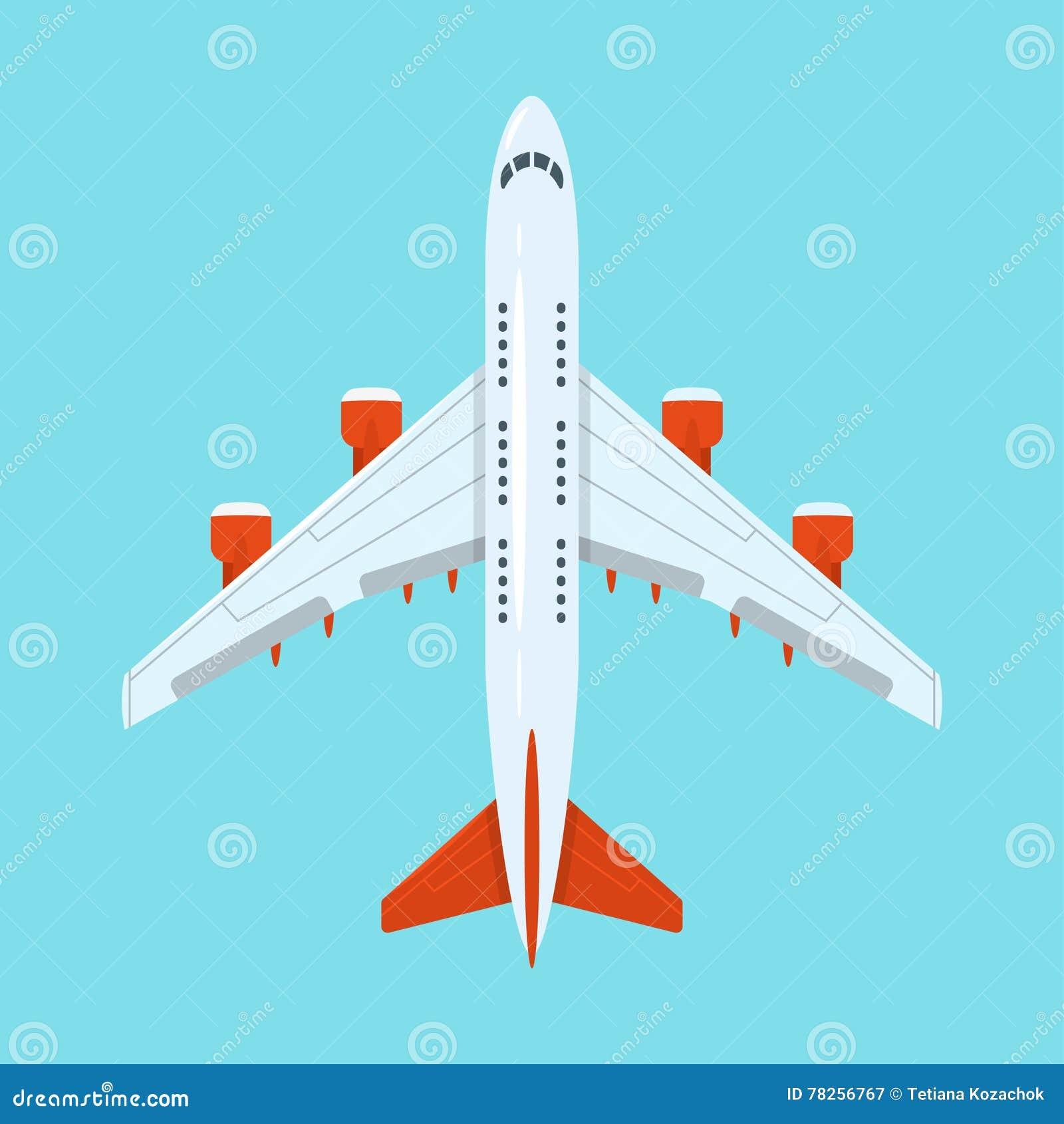 Διανυσματική επίπεδη απεικόνιση ύφους των αεροπλάνων στον ουρανό