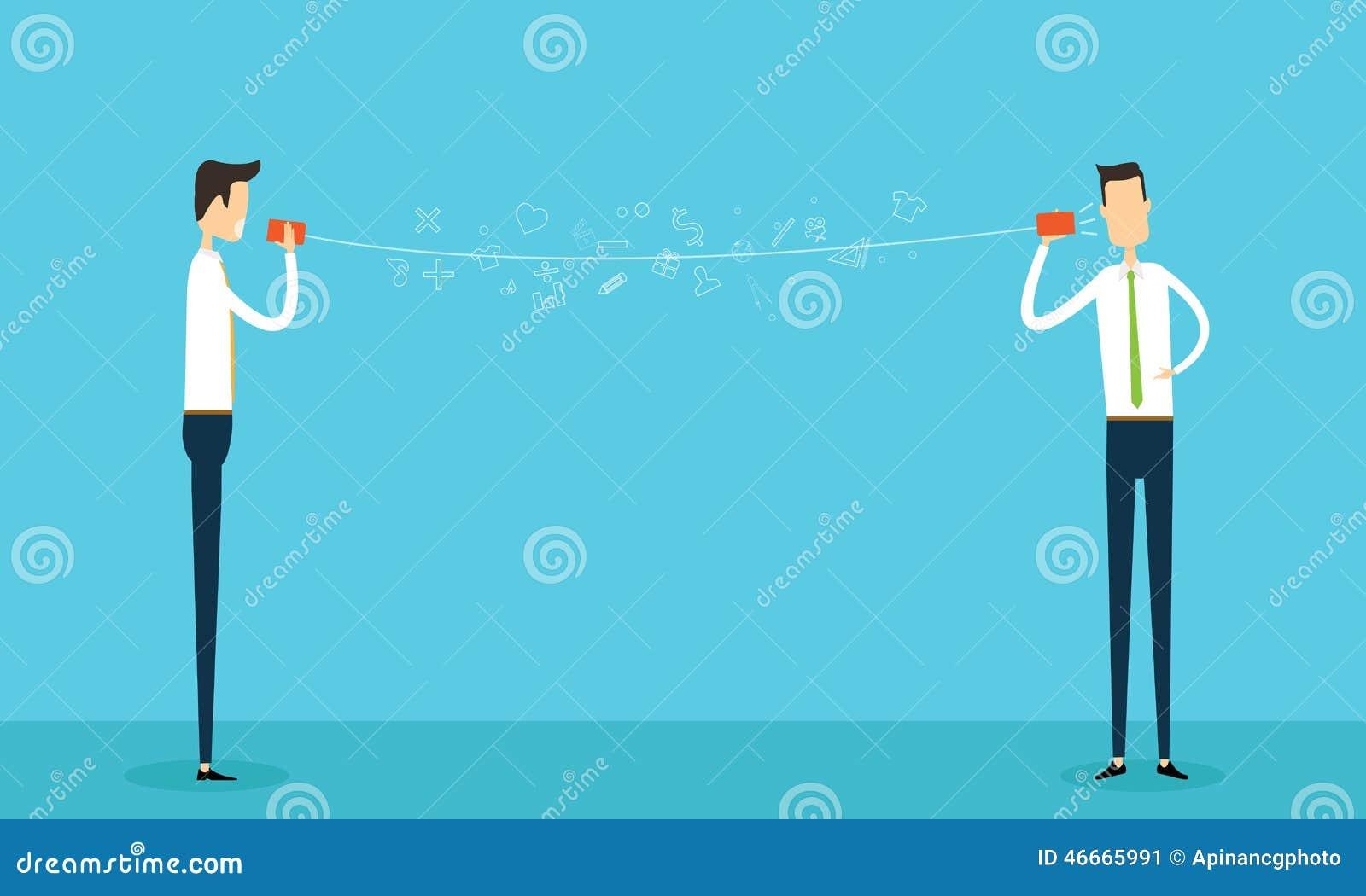 Διανυσματική επιχείρηση σύνδεσης communicatiion επιχειρηματιών σε απευθείας σύνδεση