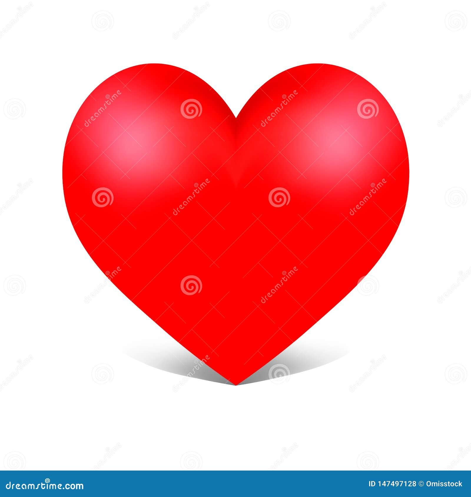 Διανυσματική κόκκινη καρδιά