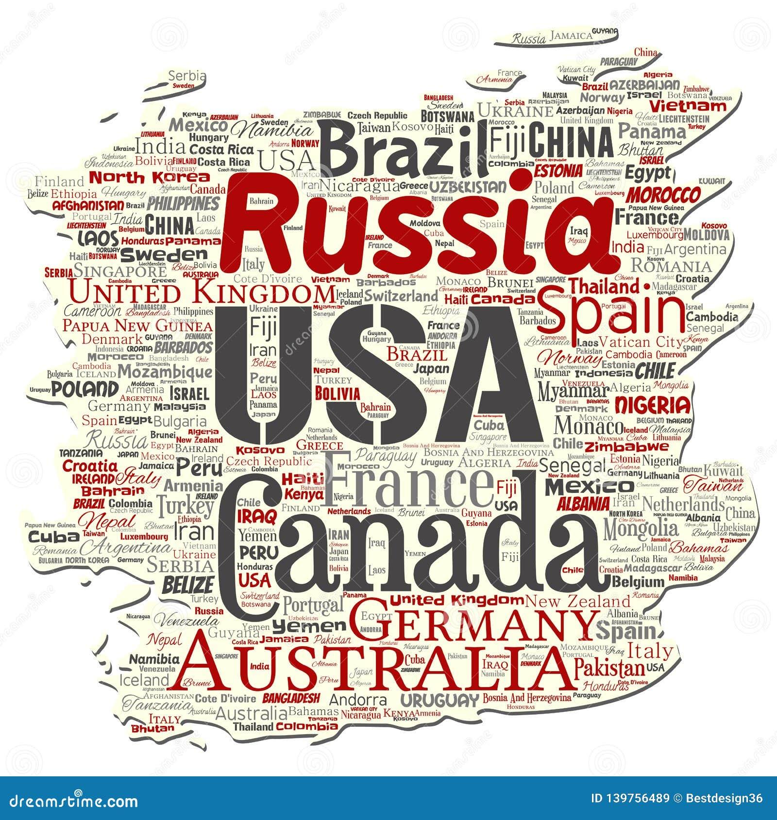 Διανυσματική παγκόσμια χώρα ή ήπειρος