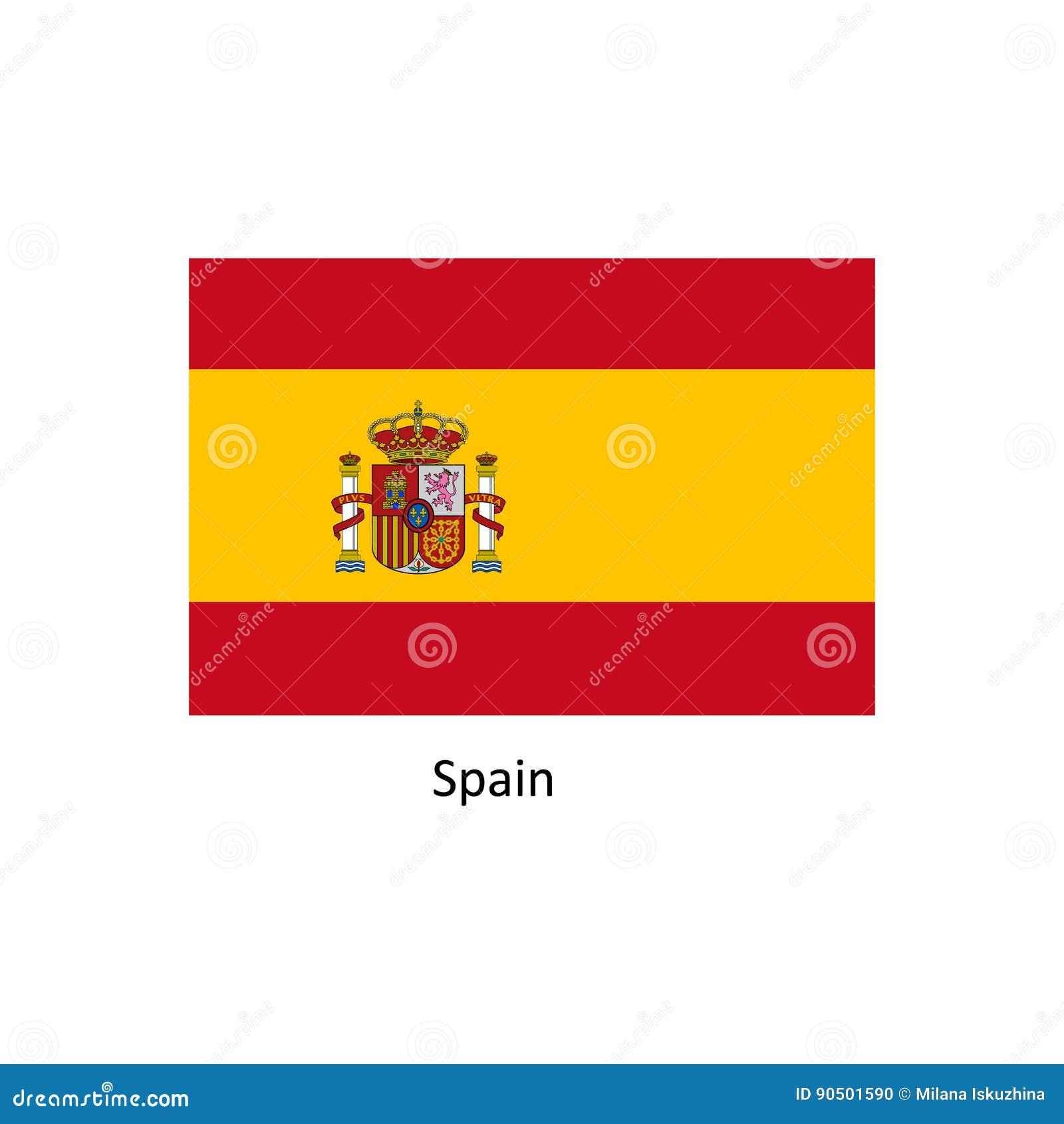 Διανυσματική σημαία της Ισπανίας, απεικόνιση σημαιών της Ισπανίας, εικόνα σημαιών της Ισπανίας