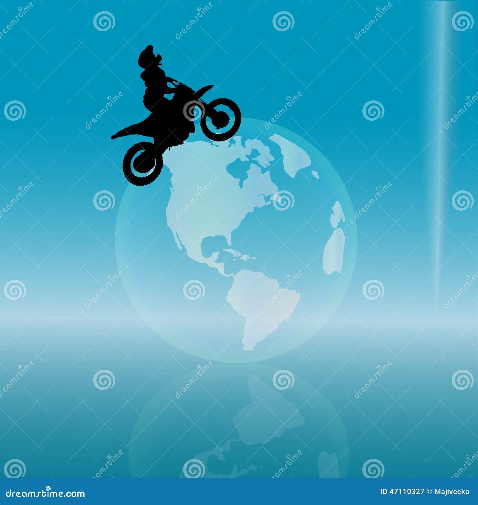 Διανυσματική σκιαγραφία ενός ποδηλάτη