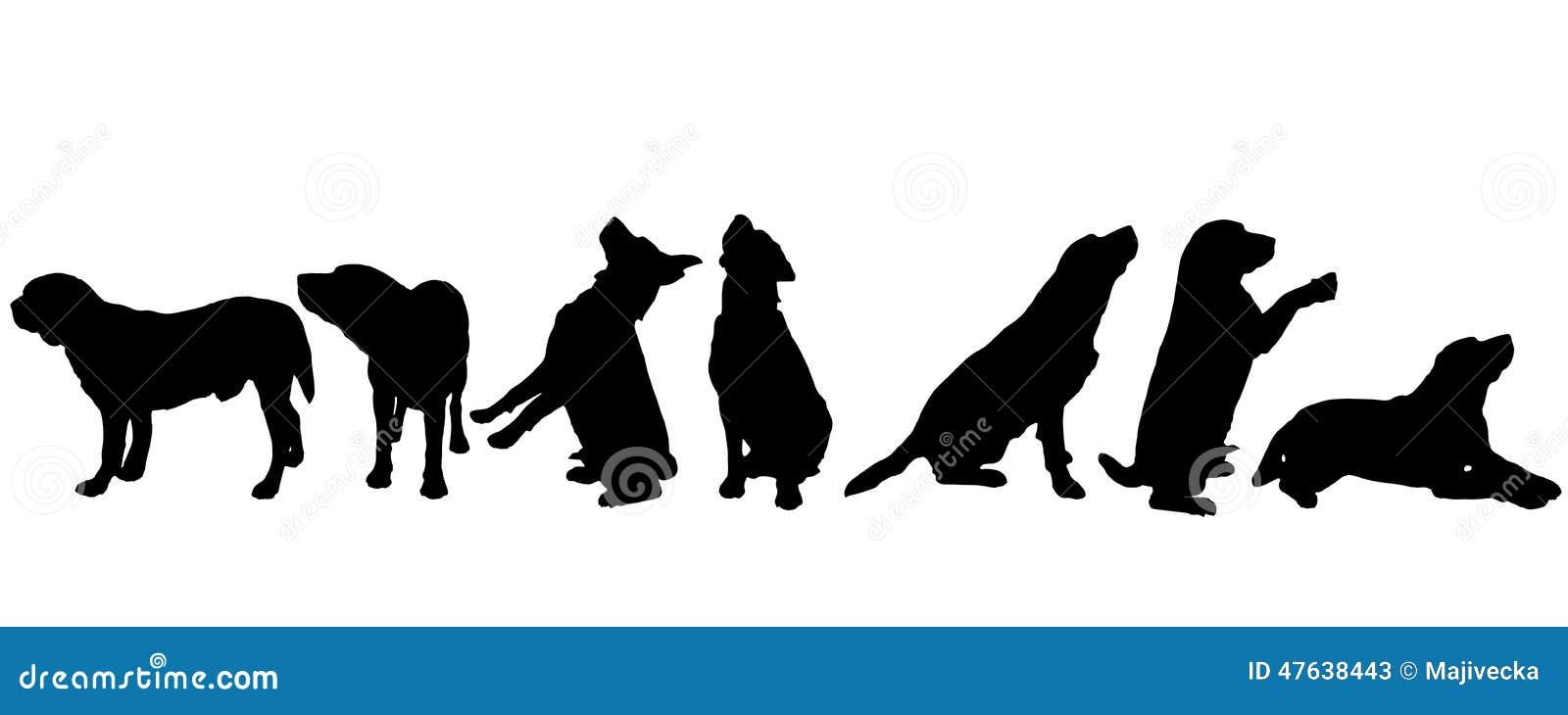 Διανυσματική σκιαγραφία ενός σκυλιού