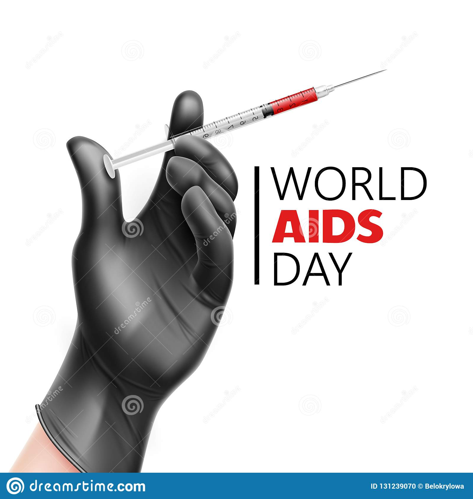 Διανυσματική συνειδητοποίηση Παγκόσμιας Ημέρας κατά του AIDS, πρόληψη HIV