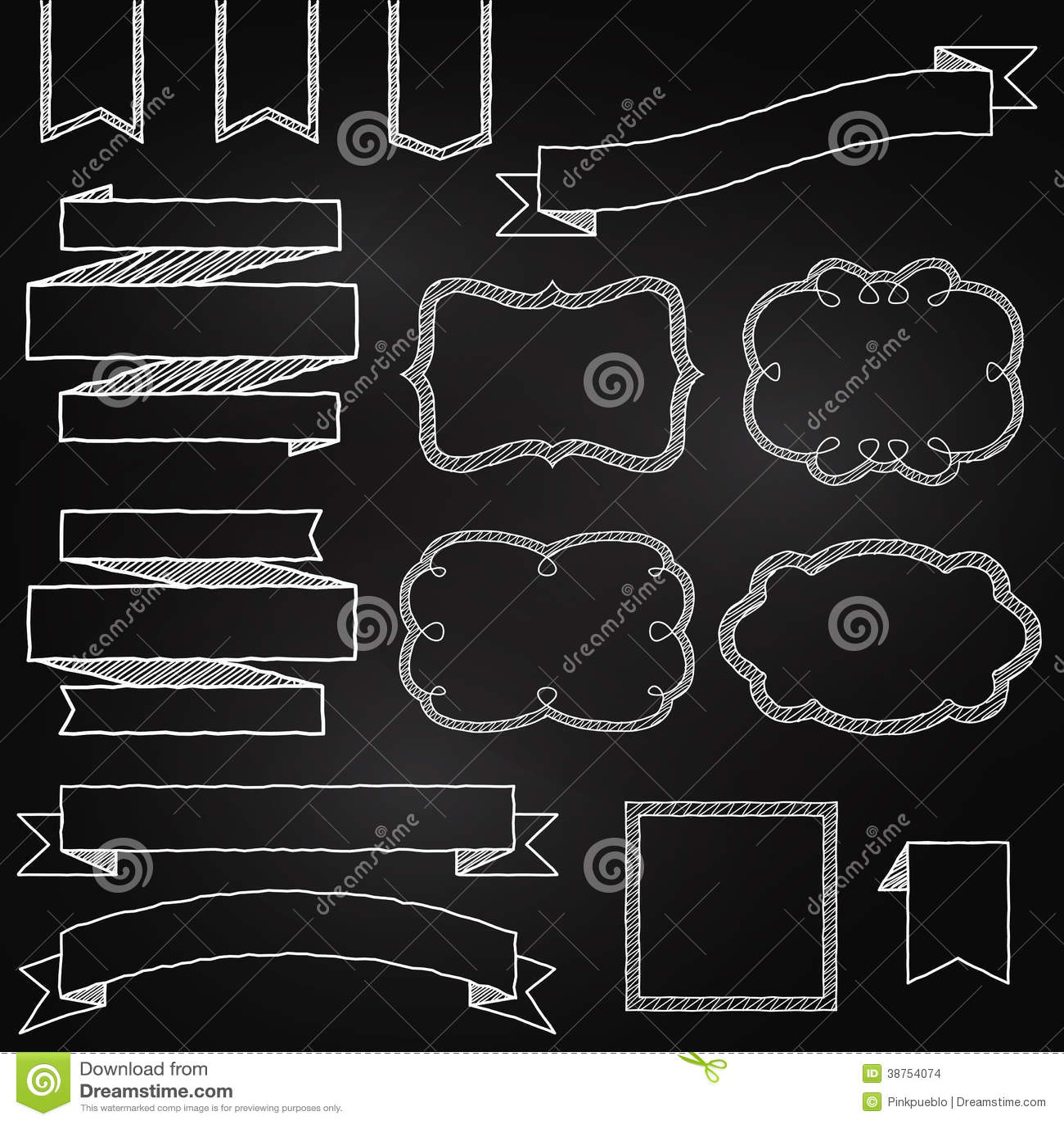 Διανυσματική συλλογή των εμβλημάτων ύφους πινάκων κιμωλίας