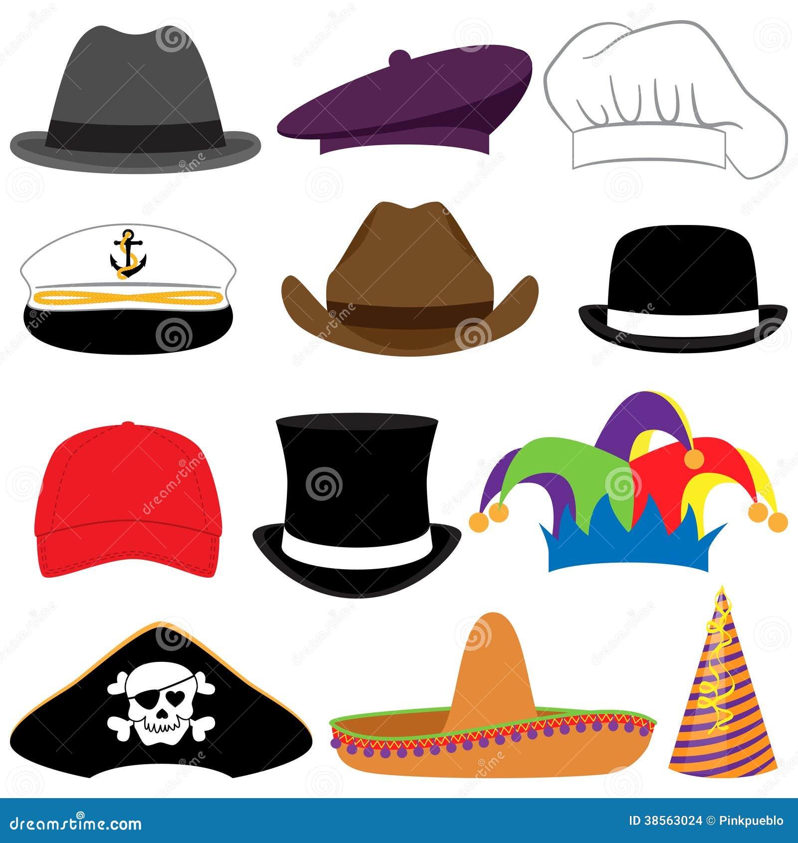 Διανυσματική συλλογή των καπέλων ή των στηριγμάτων φωτογραφιών