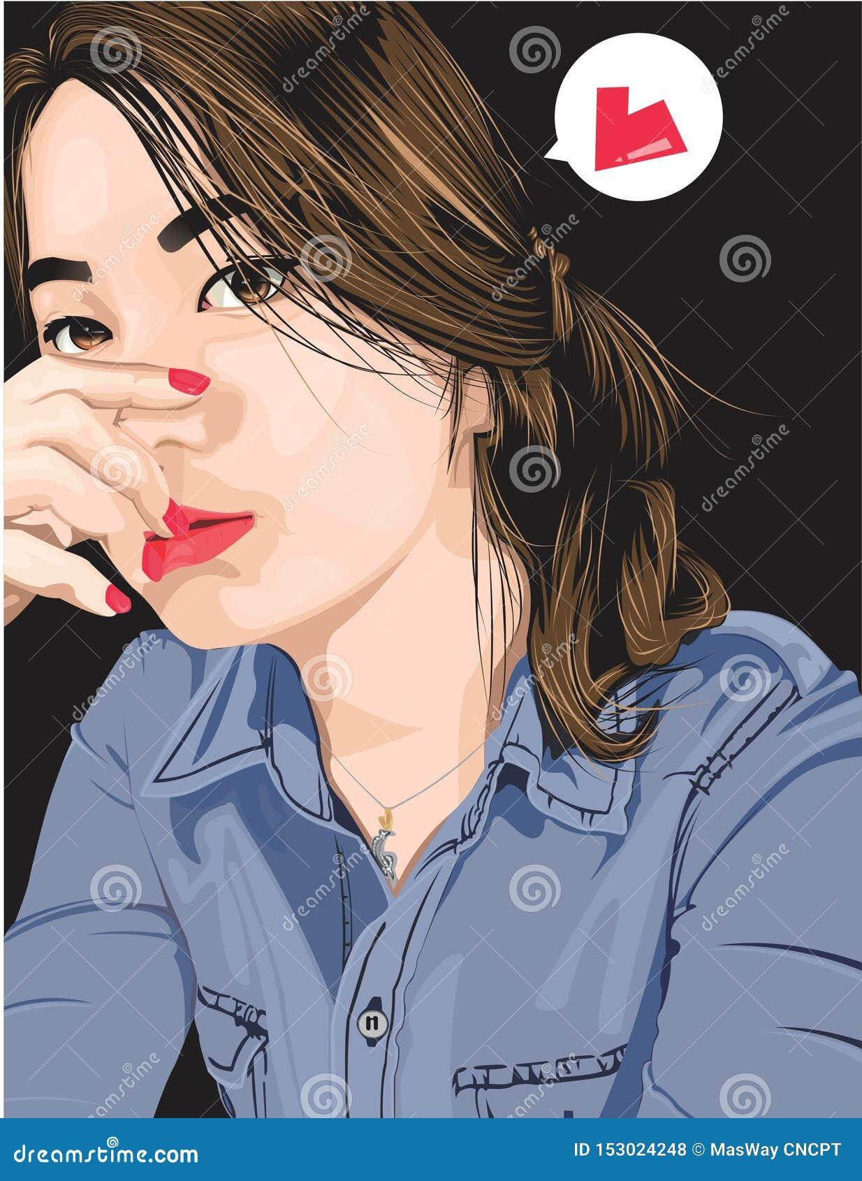 Διανυσματική τέχνη ένα κορίτσι στα τζιν