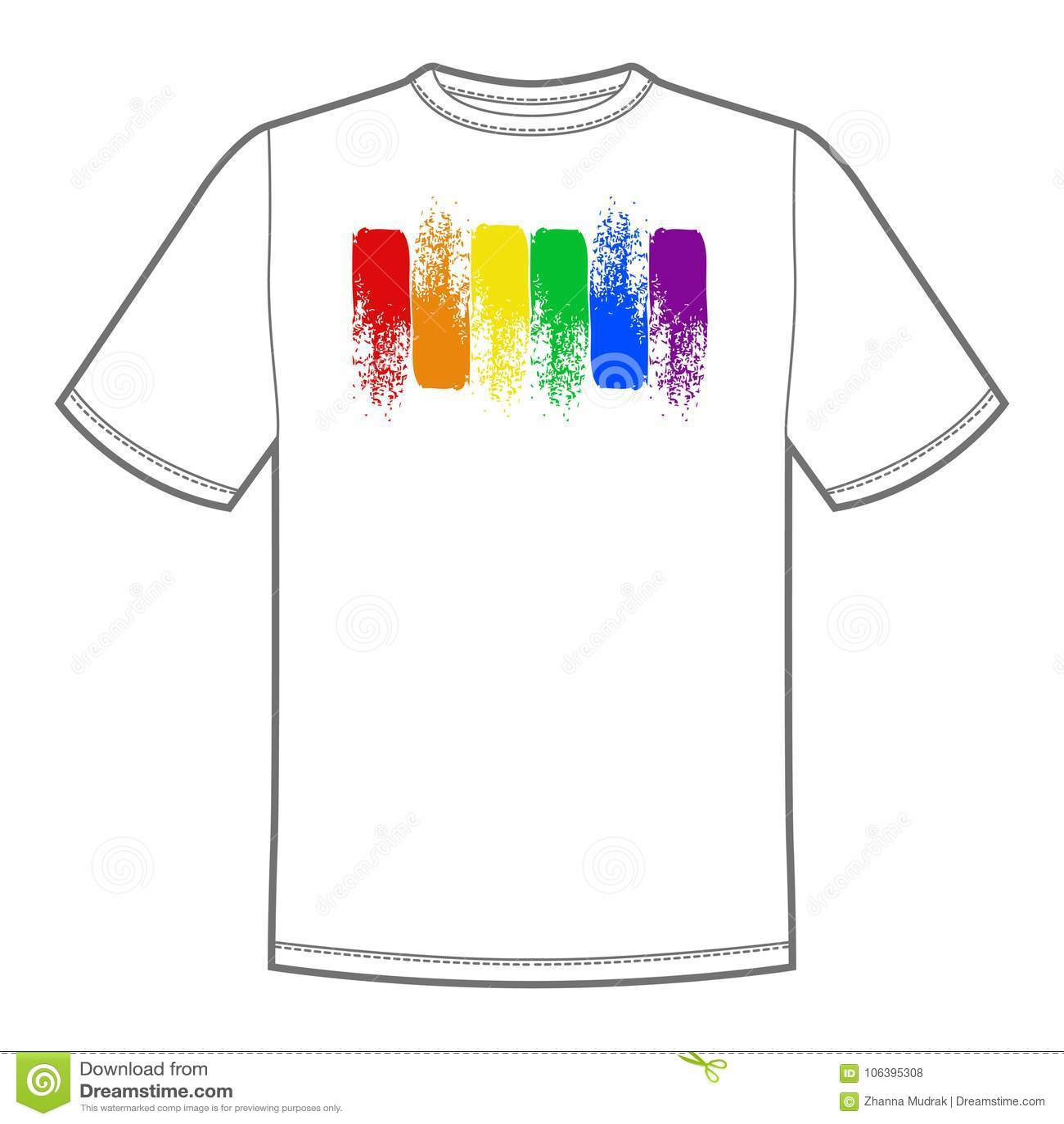 e943f41f765d Διανυσματική τυπωμένη ύλη σημαδιών για την μπλούζα με το φωτεινό ουράνιο  τόξο υπερηφάνειας lgbt