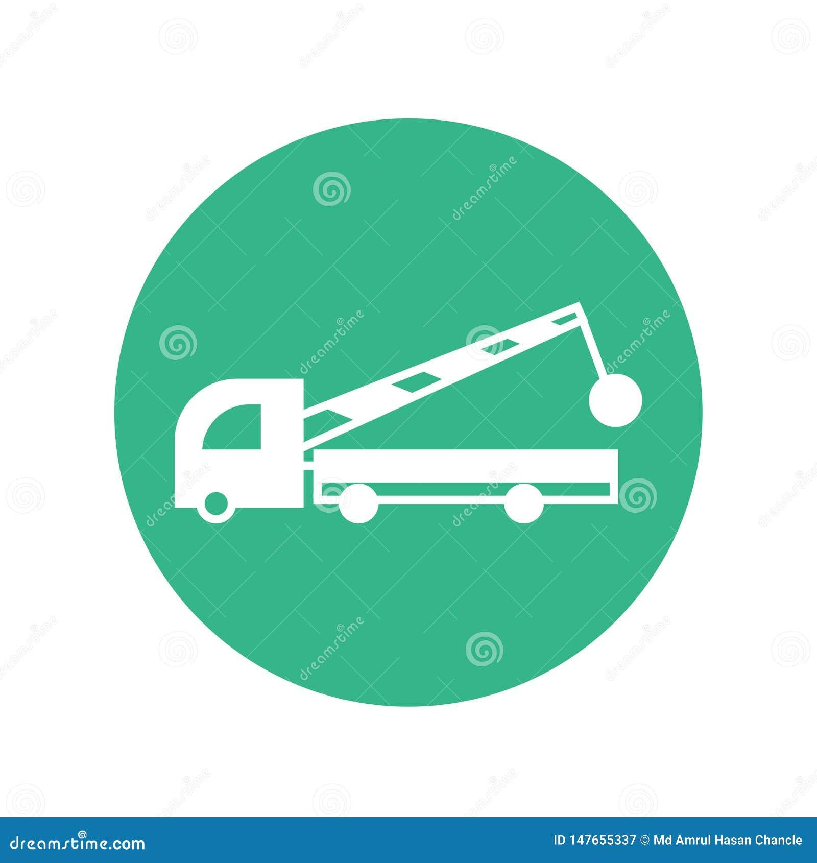 Διανυσματική υπηρεσία κατασκευής εικονιδίων φορτηγών κατασκευής