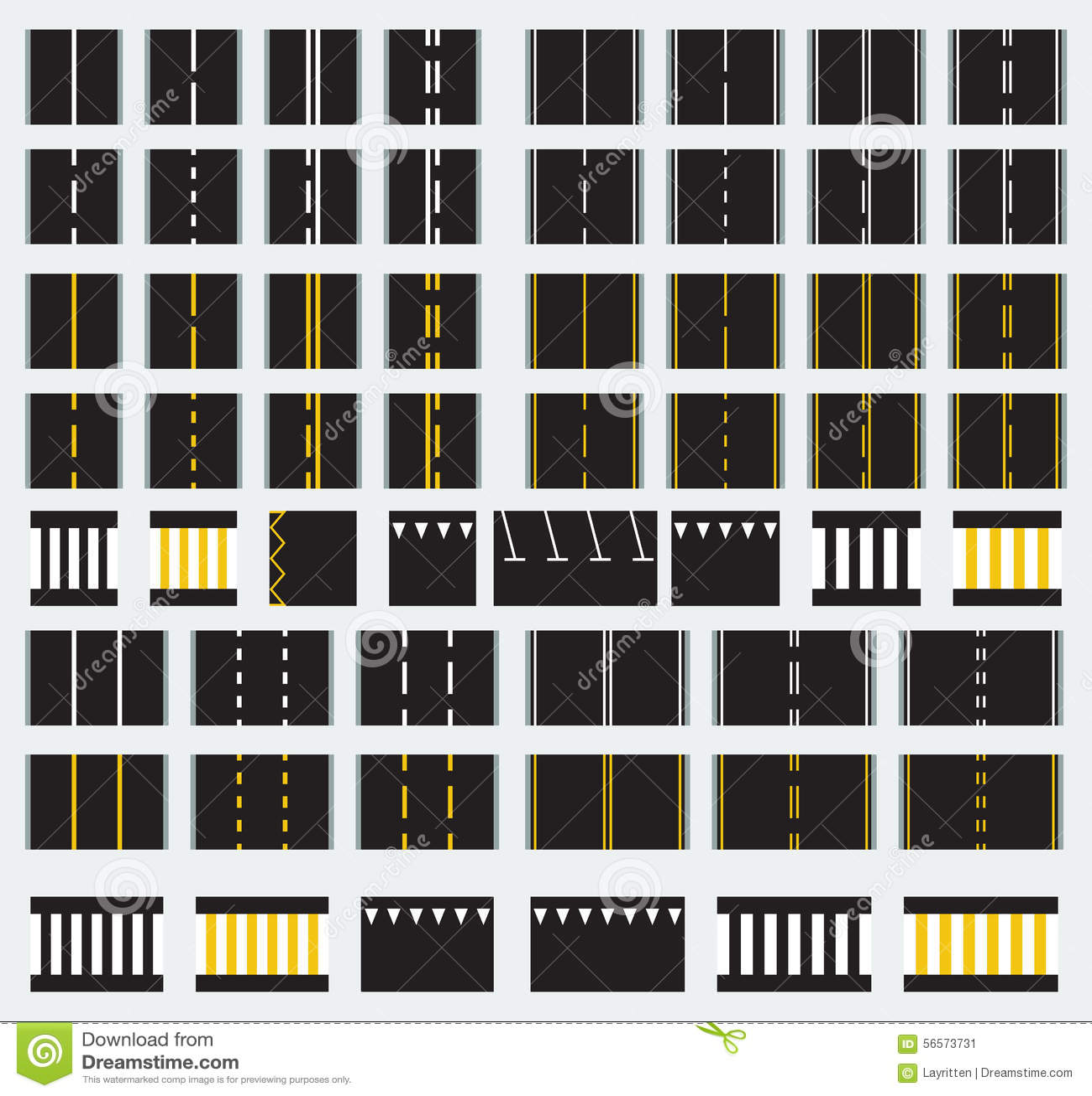 Download Διανυσματικοί άνευ ραφής δρόμοι Διανυσματική απεικόνιση - εικονογραφία από roundabout, επαναλάβετε: 56573731