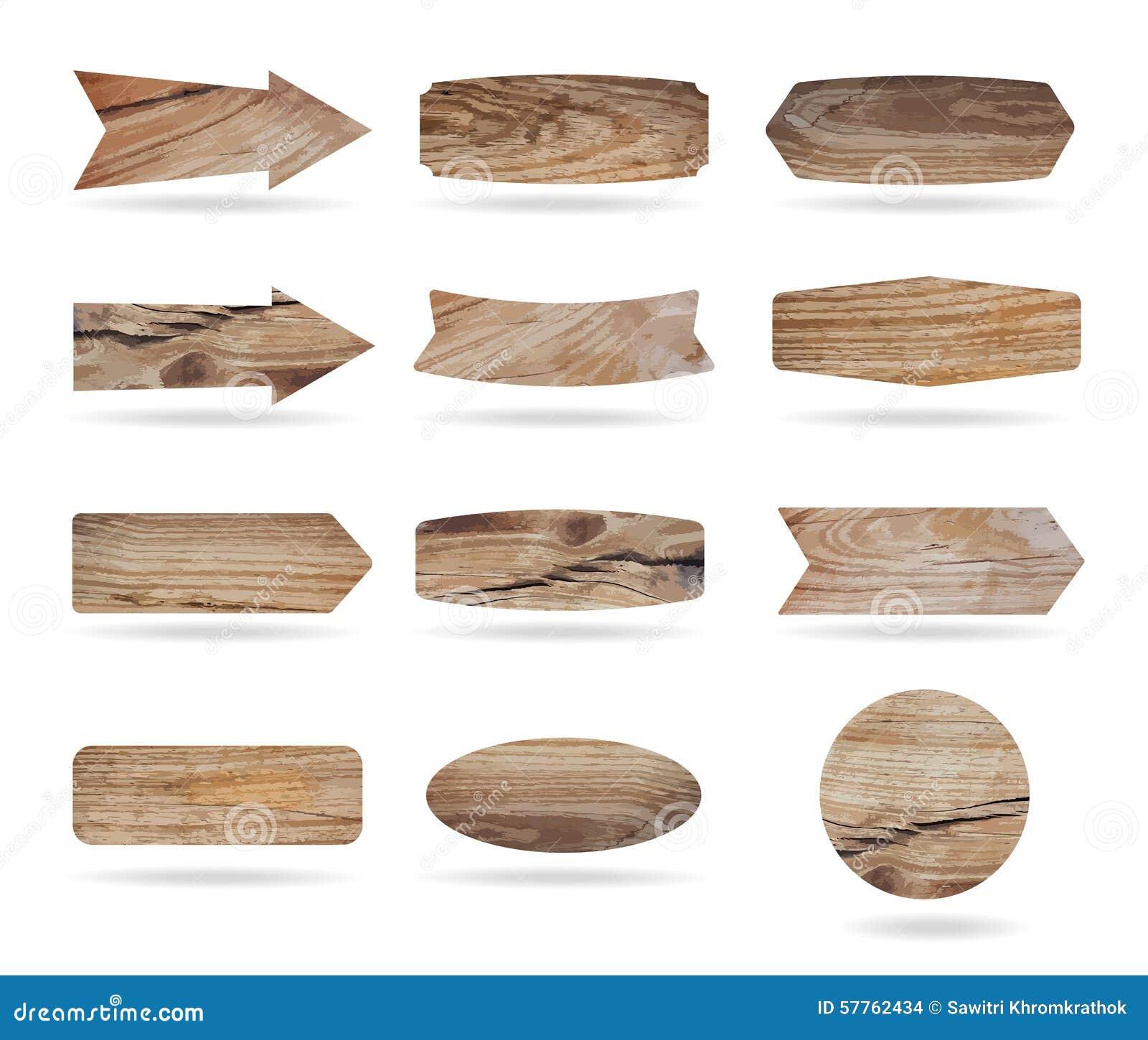 Διανυσματικοί ξύλινοι πίνακες σημαδιών
