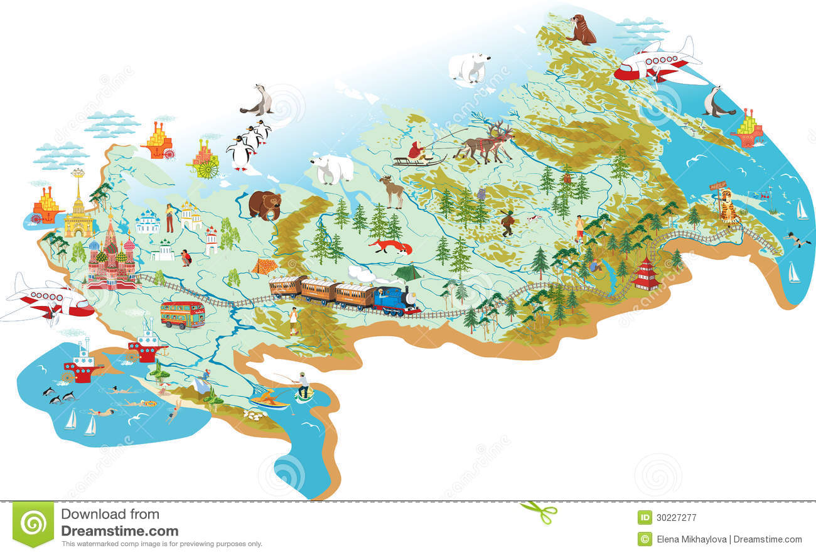 Χάρτης της Ρωσίας