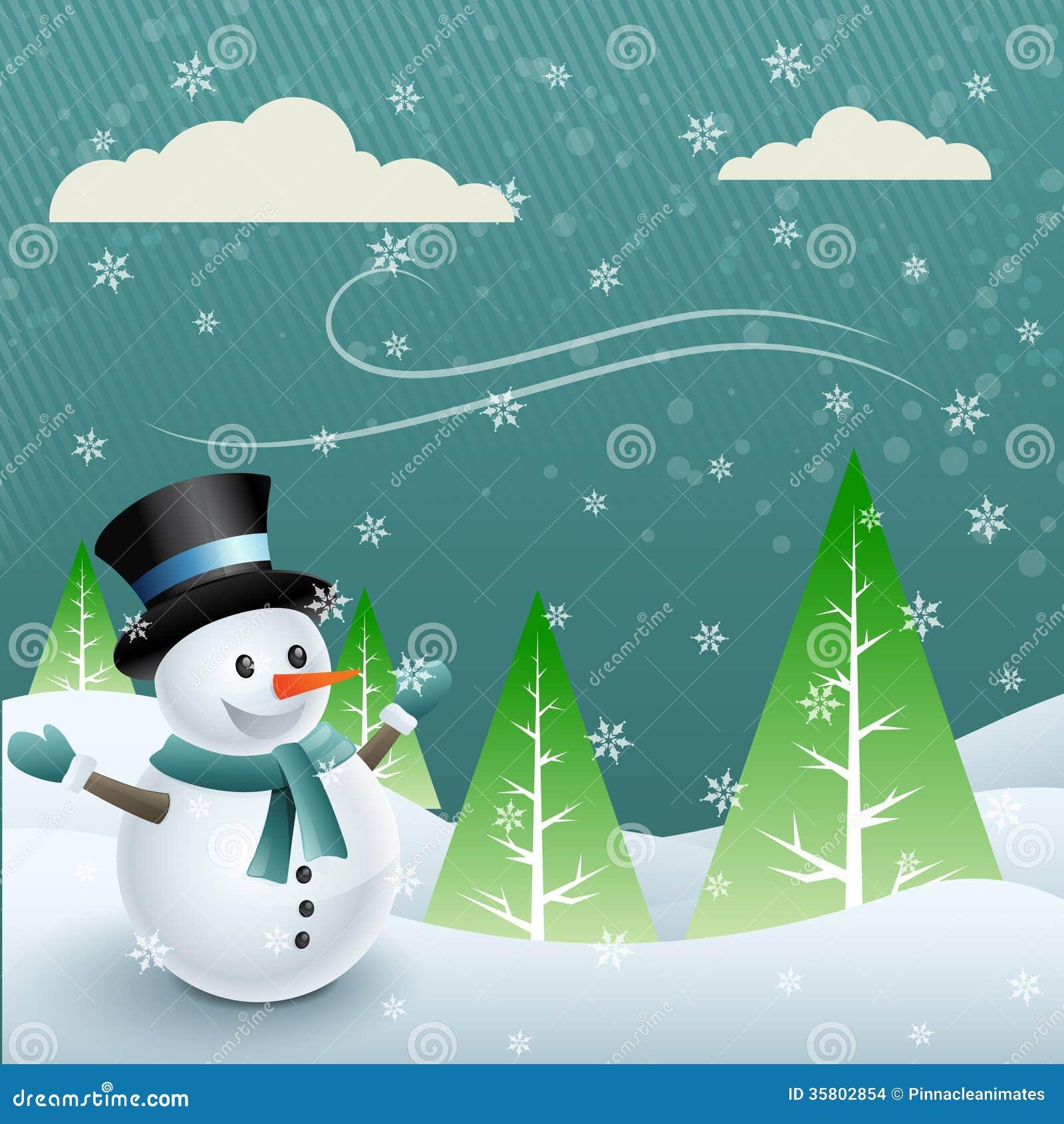 Διανυσματικός χιονάνθρωπος