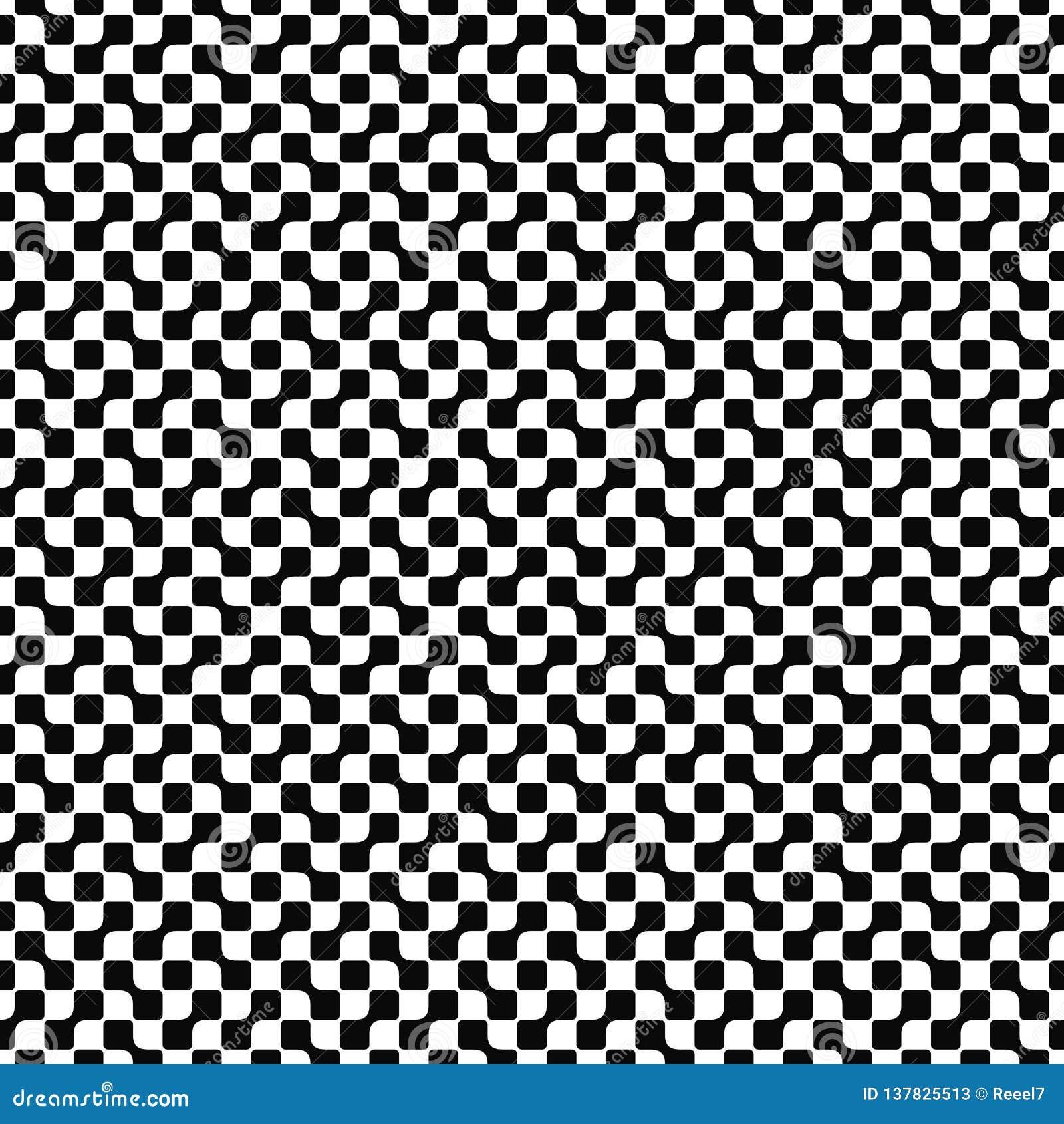 Διανυσματικό άνευ ραφής γεωμετρικό πρότυπο Αφηρημένη σύσταση μορφών Γραπτό υπόβαθρο Μονοχρωματικό σχέδιο