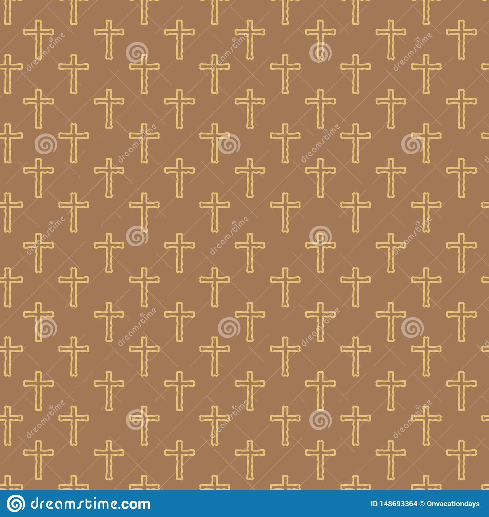 Διανυσματικό άνευ ραφής σχέδιο του σταυρού σχεδίων χεριών
