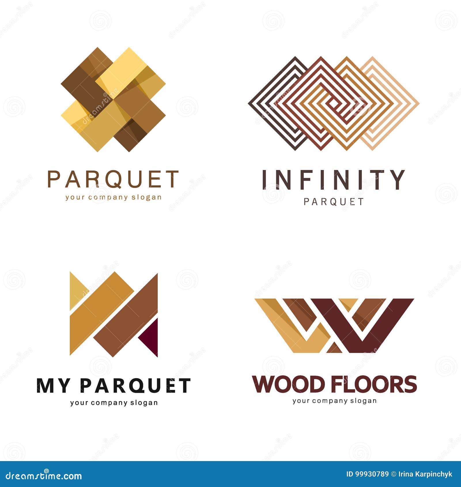 Διανυσματικό αφηρημένο πρότυπο λογότυπων Σχέδιο λογότυπων για το παρκέ, φύλλο πλαστικού, δάπεδο, κεραμίδια