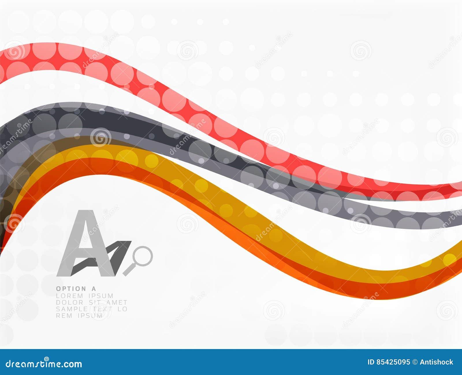 Διανυσματικό αφηρημένο υπόβαθρο γραμμών κυμάτων