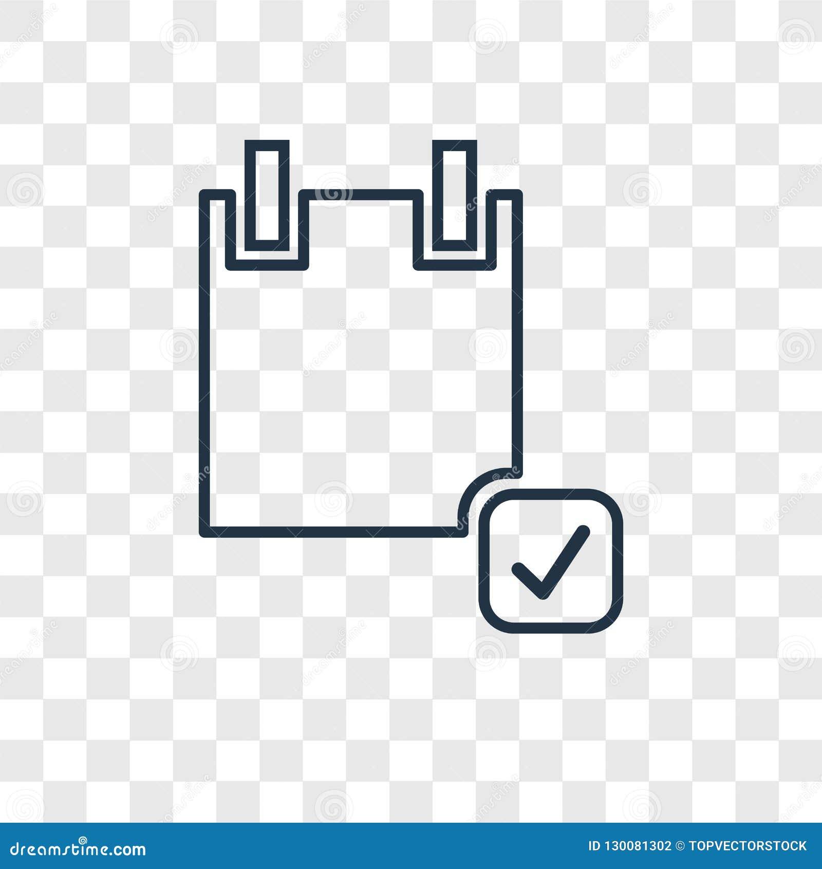Διανυσματικό γραμμικό εικονίδιο έννοιας αίτησης υποψηφιότητας που απομονώνεται σε transpar