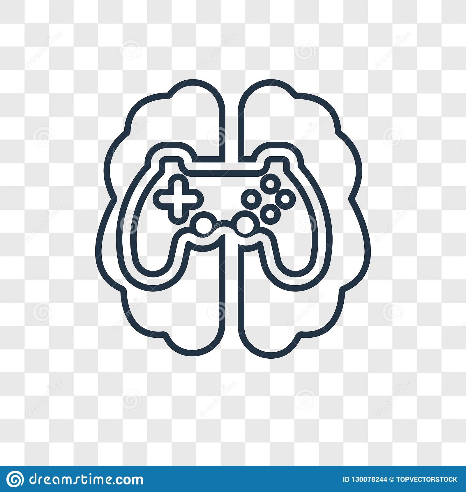 Διανυσματικό γραμμικό εικονίδιο έννοιας τυχερού παιχνιδιού που απομονώνεται στο διαφανές backgr