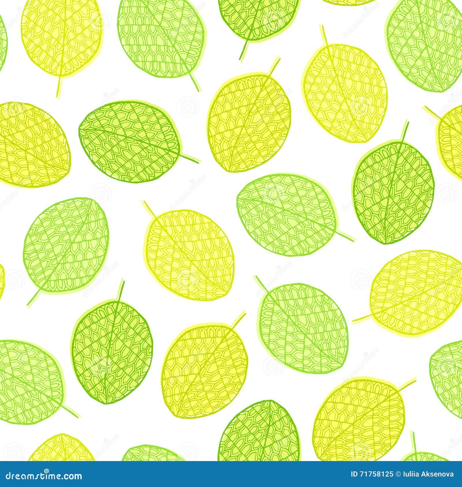 Διανυσματικό γραφικό άνευ ραφής σχέδιο από τα φύλλα σκιαγραφιών
