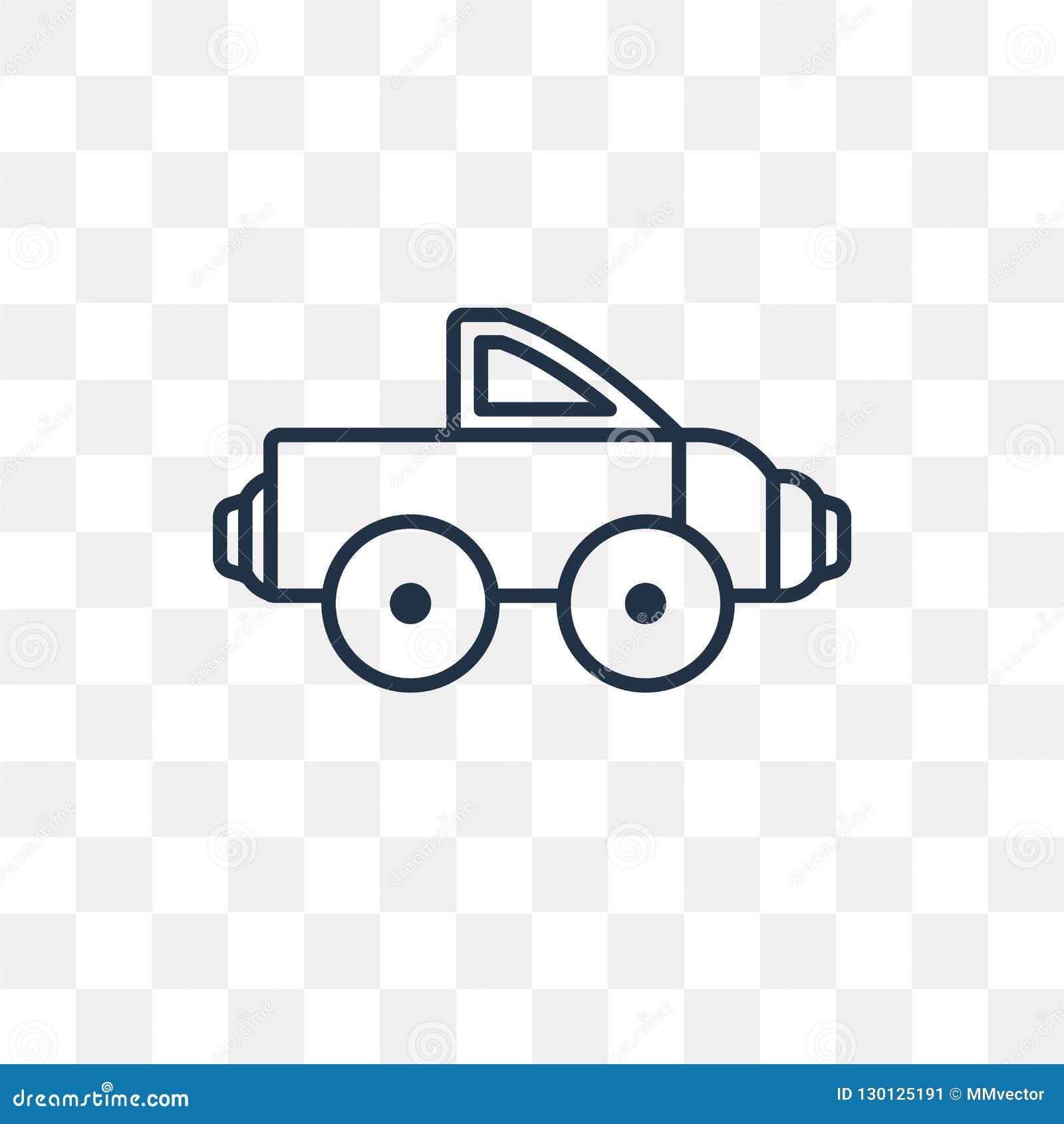 Διανυσματικό εικονίδιο ανοιχτών φορτηγών που απομονώνεται στο διαφανές υπόβαθρο, lin