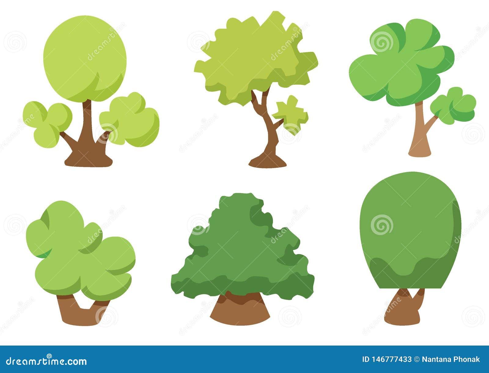 Διανυσματικό εικονίδιο δέντρων που απομονώνεται στο άσπρο υπόβαθρο, έννοια λογότυπων δέντρων