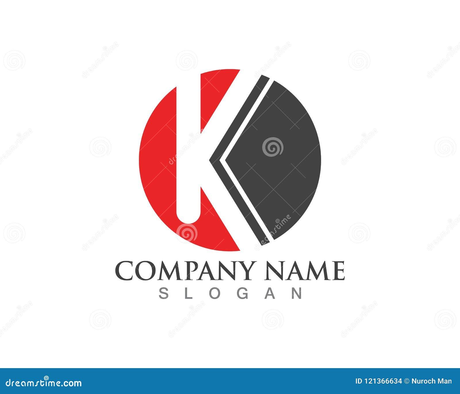 Διανυσματικό εικονίδιο λογότυπων επιστολών Κ