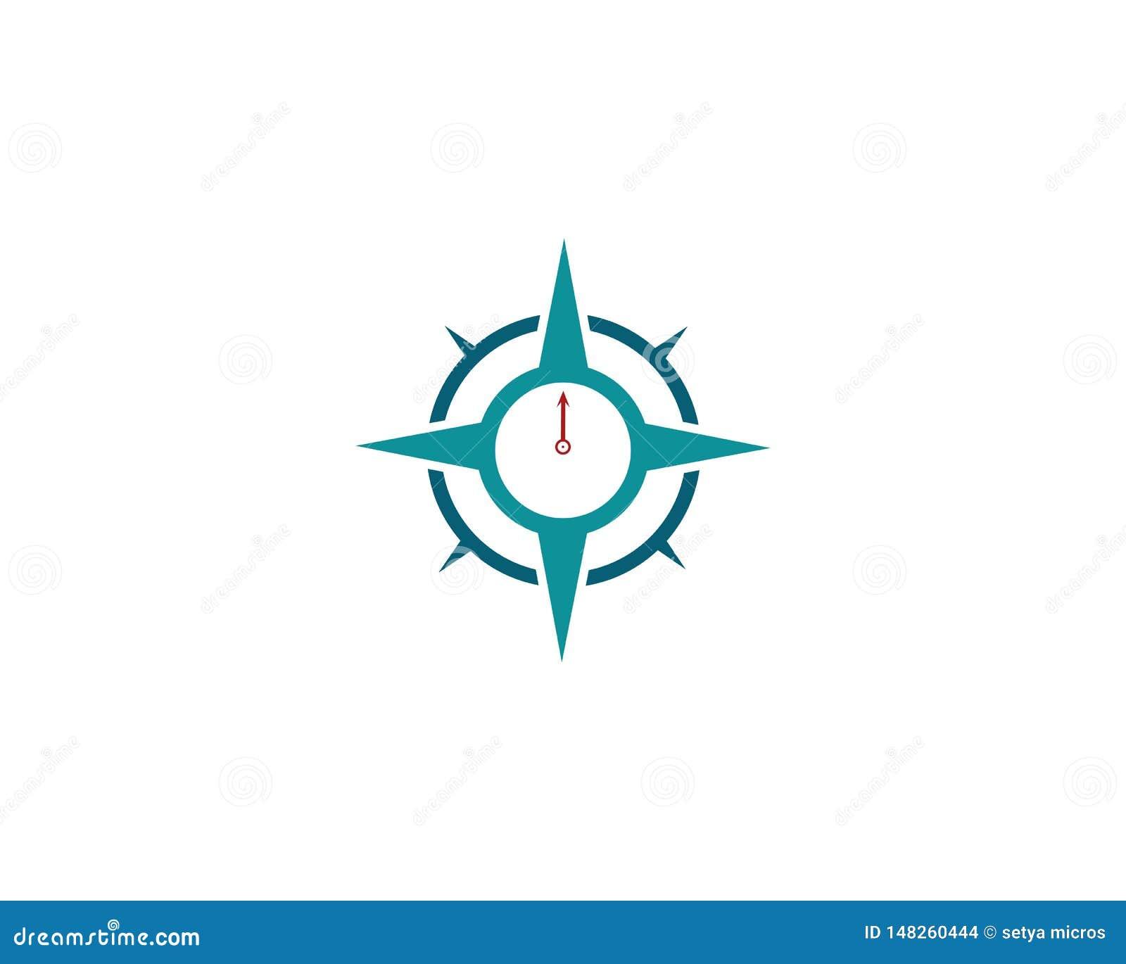 Διανυσματικό εικονίδιο προτύπων λογότυπων πυξίδων