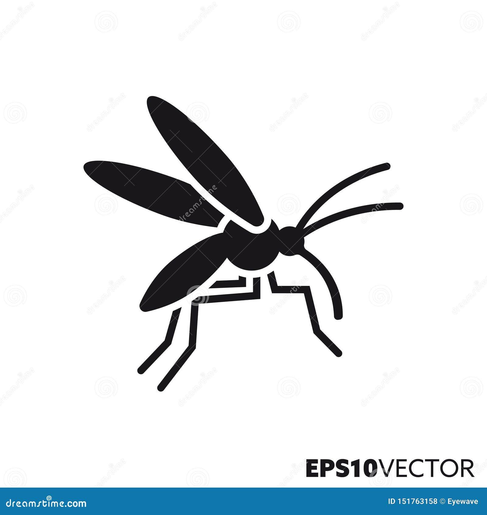 Διανυσματικό εικονίδιο glyph κουνουπιών