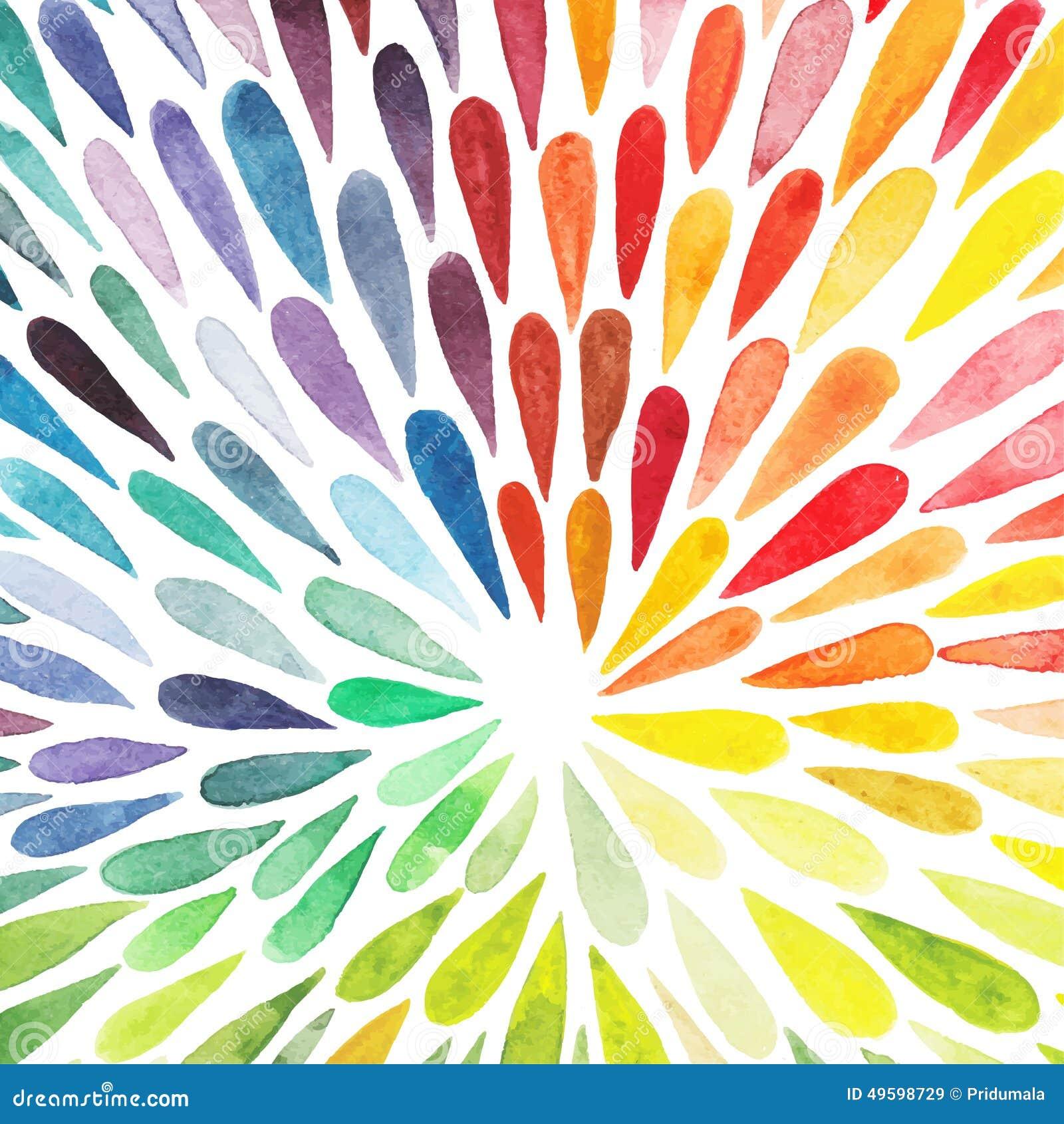 Διανυσματικό ζωηρόχρωμο αφηρημένο υπόβαθρο watercolor Συλλογή του PA
