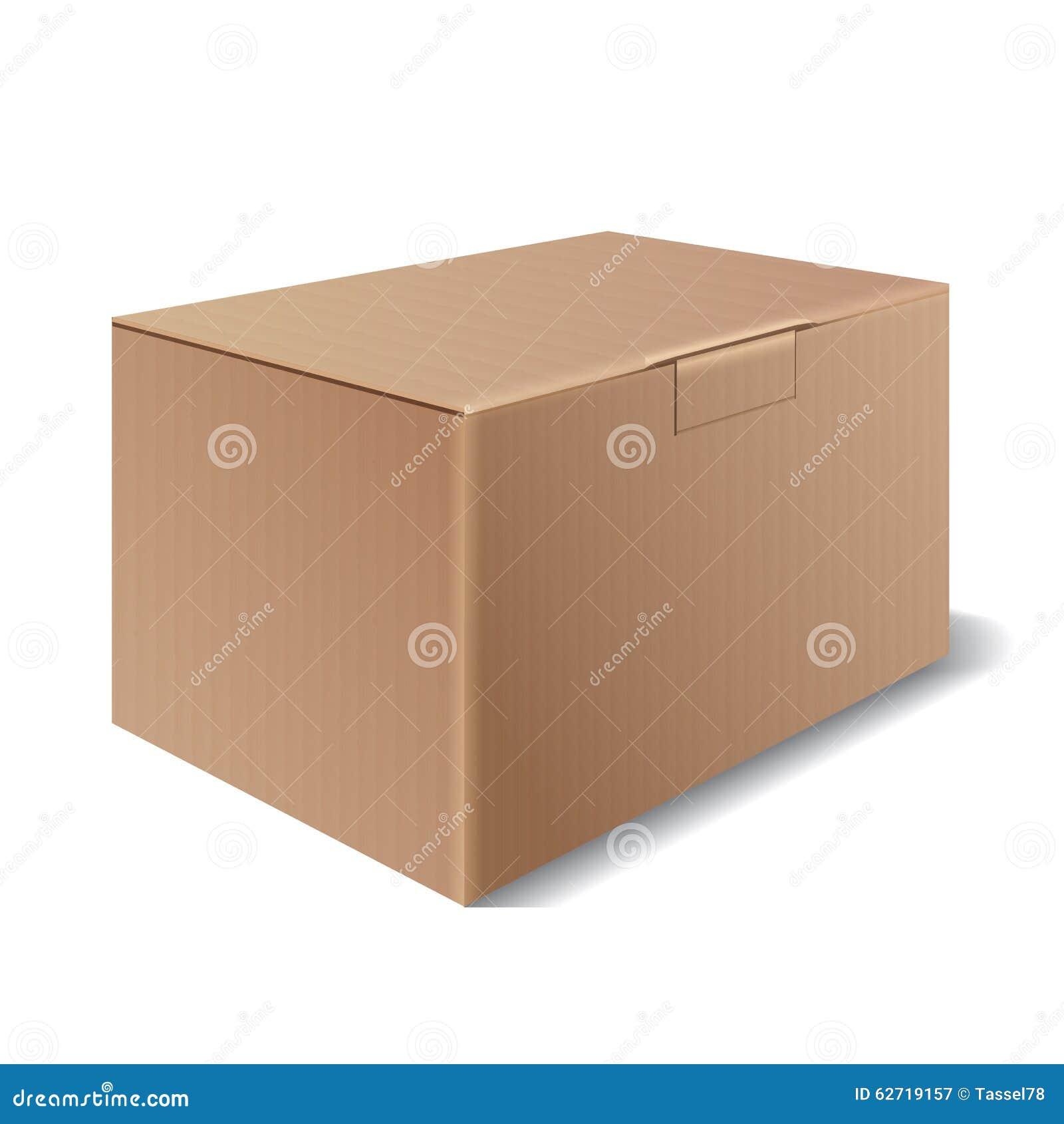 Διανυσματικό κουτί από χαρτόνι