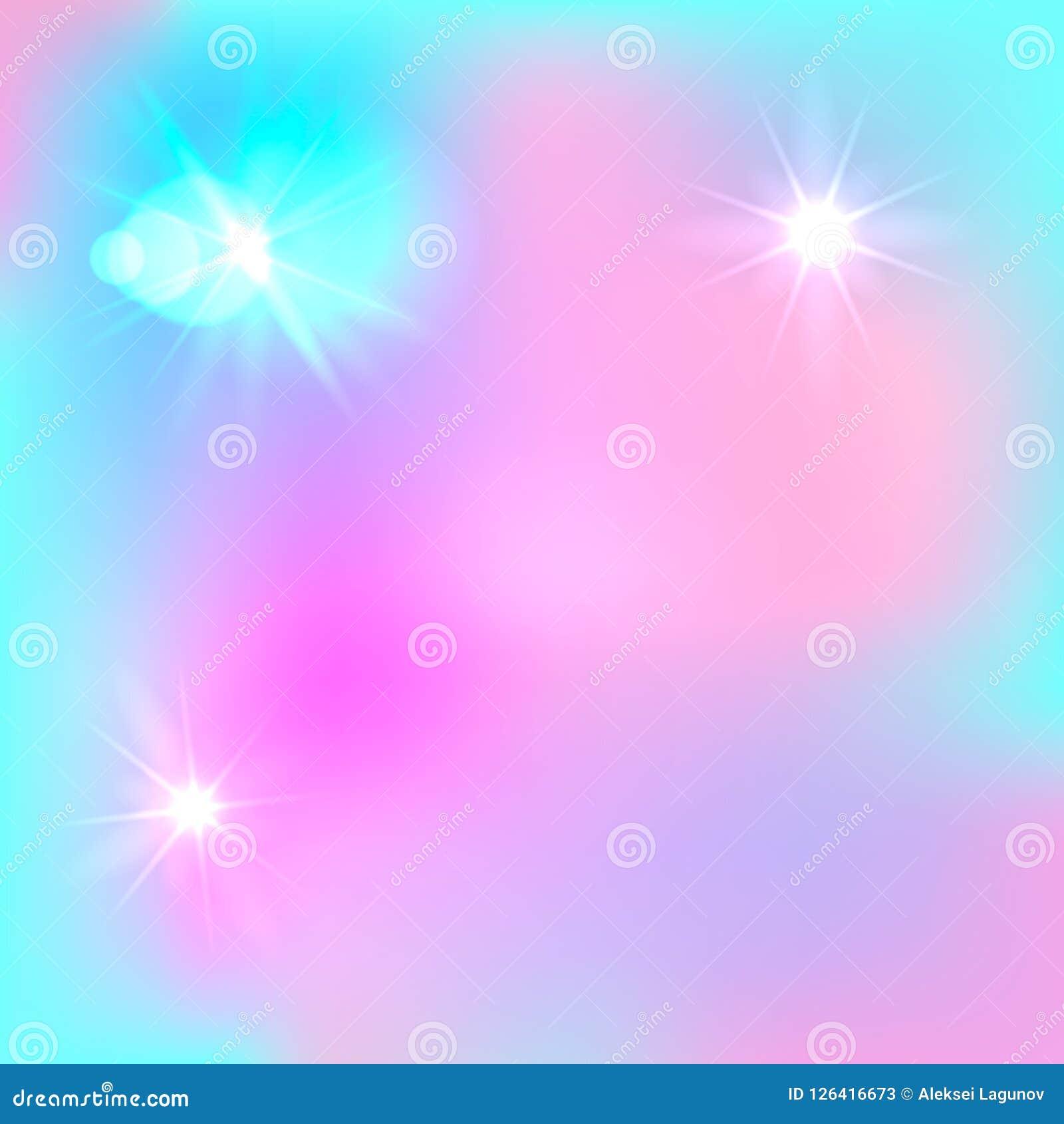 Διανυσματικό μαγικό υπόβαθρο Farytale, χαριτωμένο σκηνικό, ανοικτό μπλε και ρόδινος