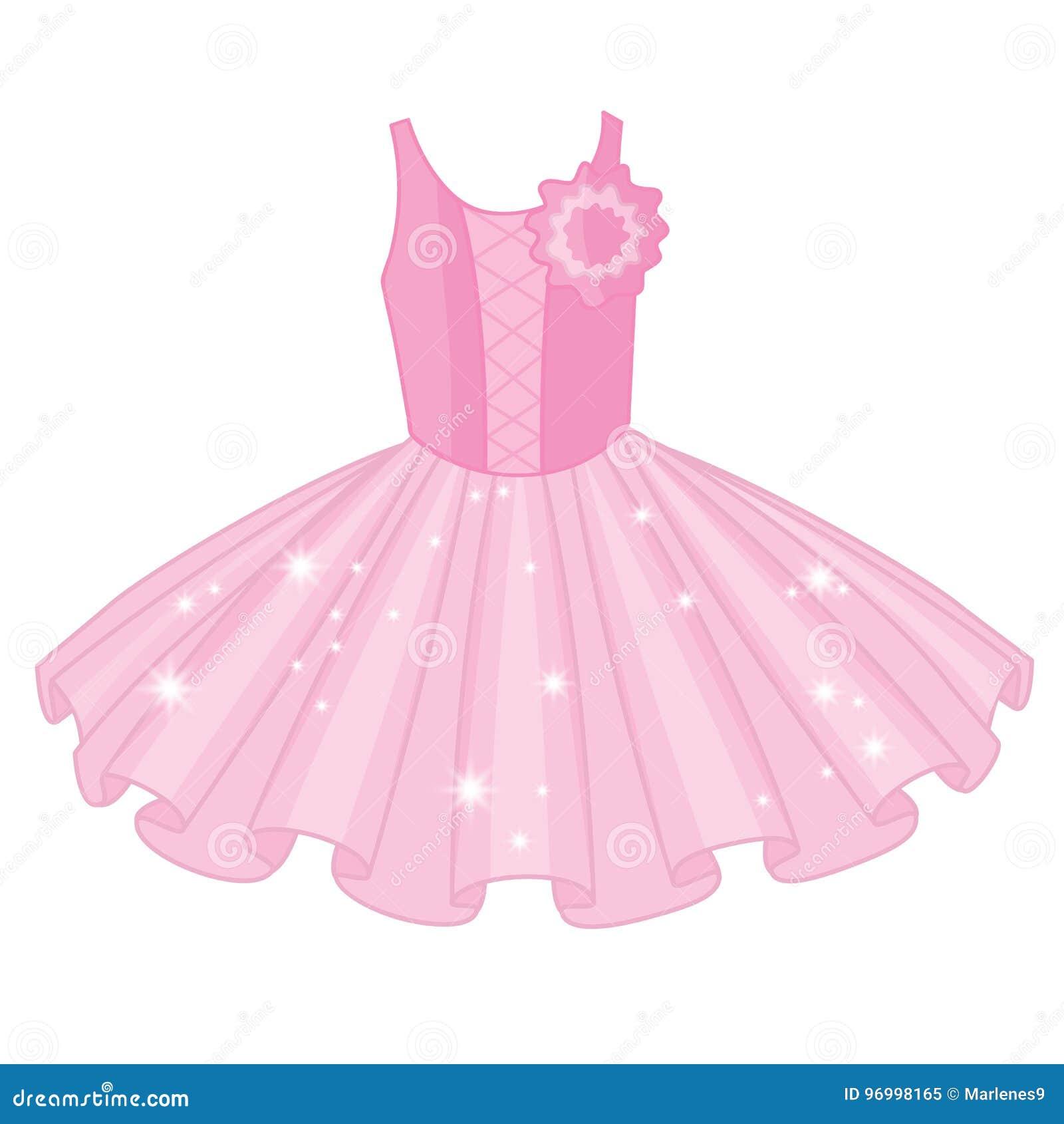 e538670e544 Διανυσματικό μαλακό ρόδινο φόρεμα tutu Διανυσματικά φορέματα tutu ballerina  ` s Διανυσματική απεικόνιση φορεμάτων μπαλέτου