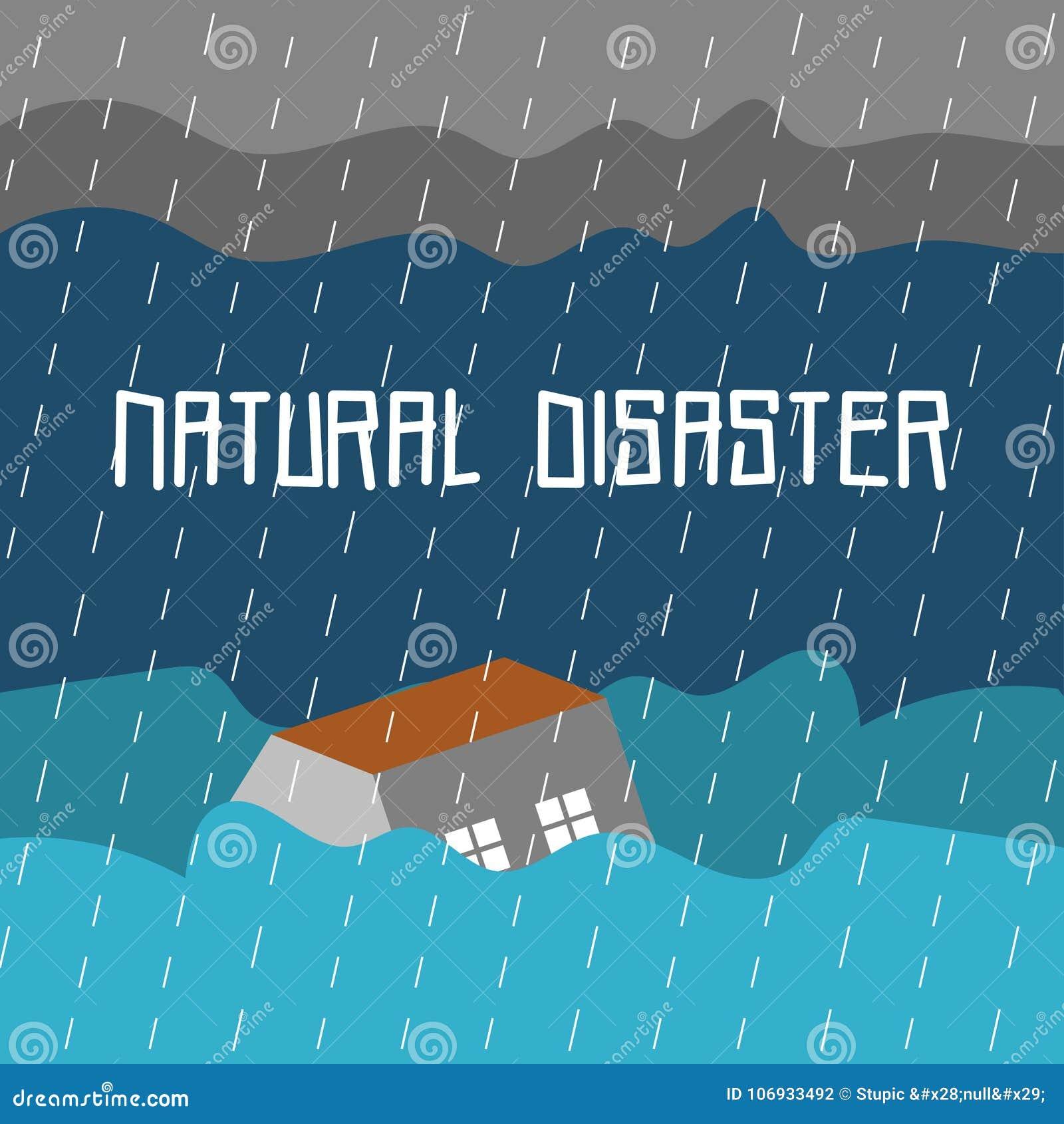 Διανυσματικό πρότυπο λογότυπων τέχνης απεικόνισης φυσικής καταστροφής