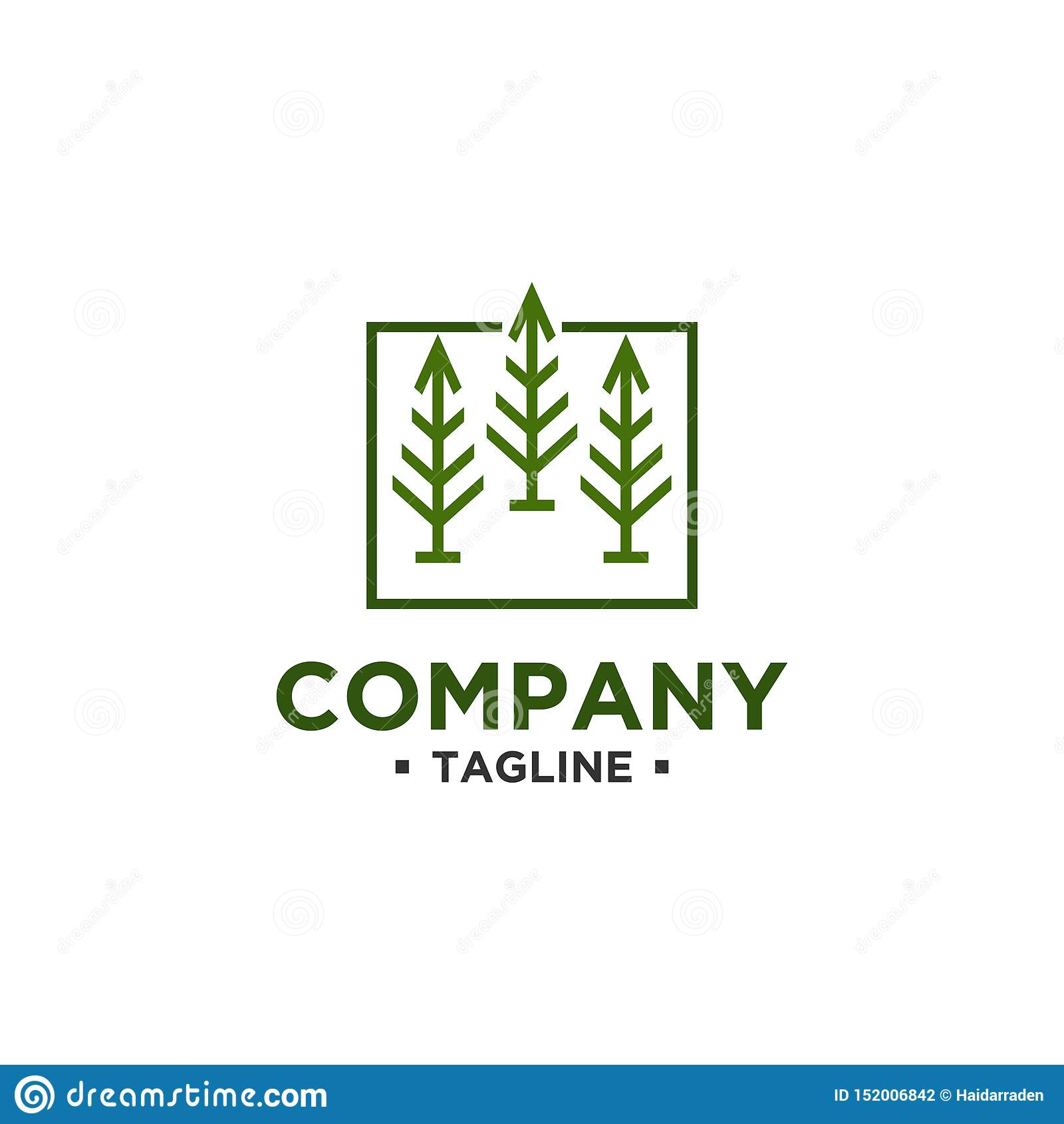 Διανυσματικό πρότυπο σχεδίου λογότυπων δέντρων