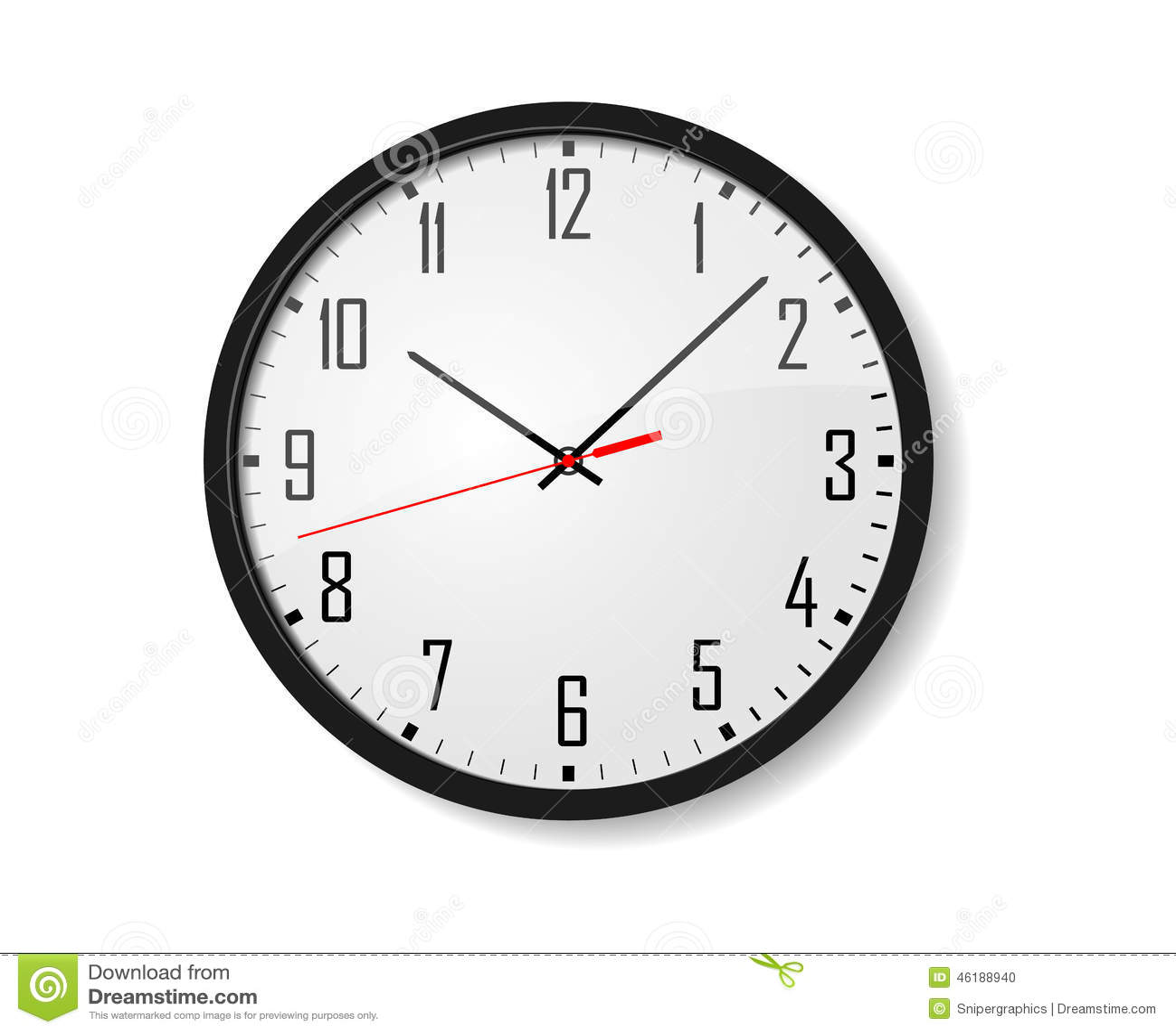 Διανυσματικό ρολόι τοίχων
