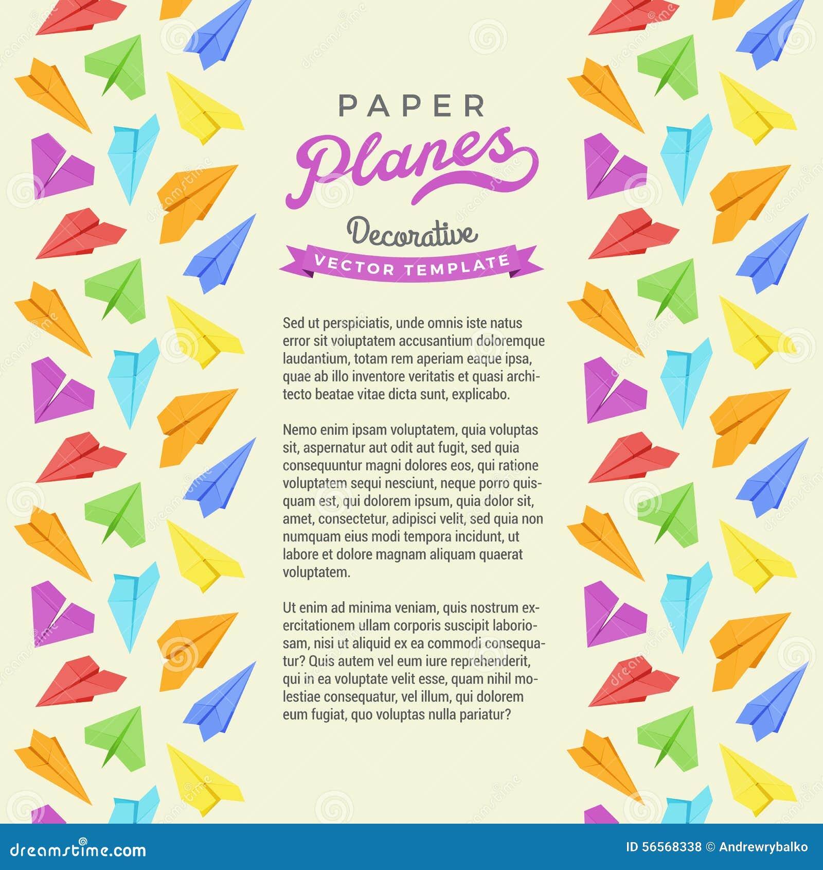 Download Διανυσματικό σχέδιο διακόσμησης φιαγμένο από αεροπλάνα εγγράφου Διανυσματική απεικόνιση - εικονογραφία από διαδρόμων, πτήση: 56568338