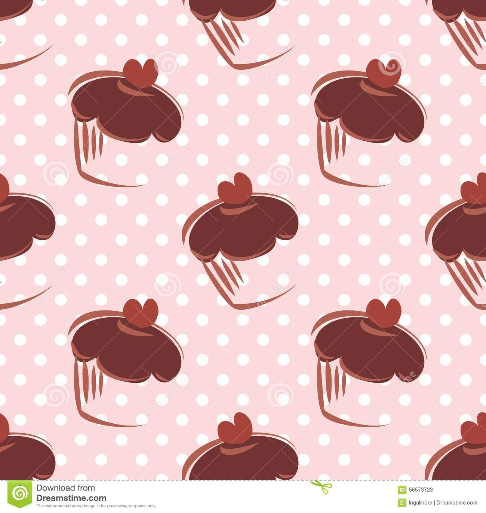 Download Διανυσματικό σχέδιο κεραμιδιών με τα Cupcakes και τα σημεία Πόλκα στο ρόδινο υπόβαθρο Διανυσματική απεικόνιση - εικονογραφία από party, doodle: 56573723