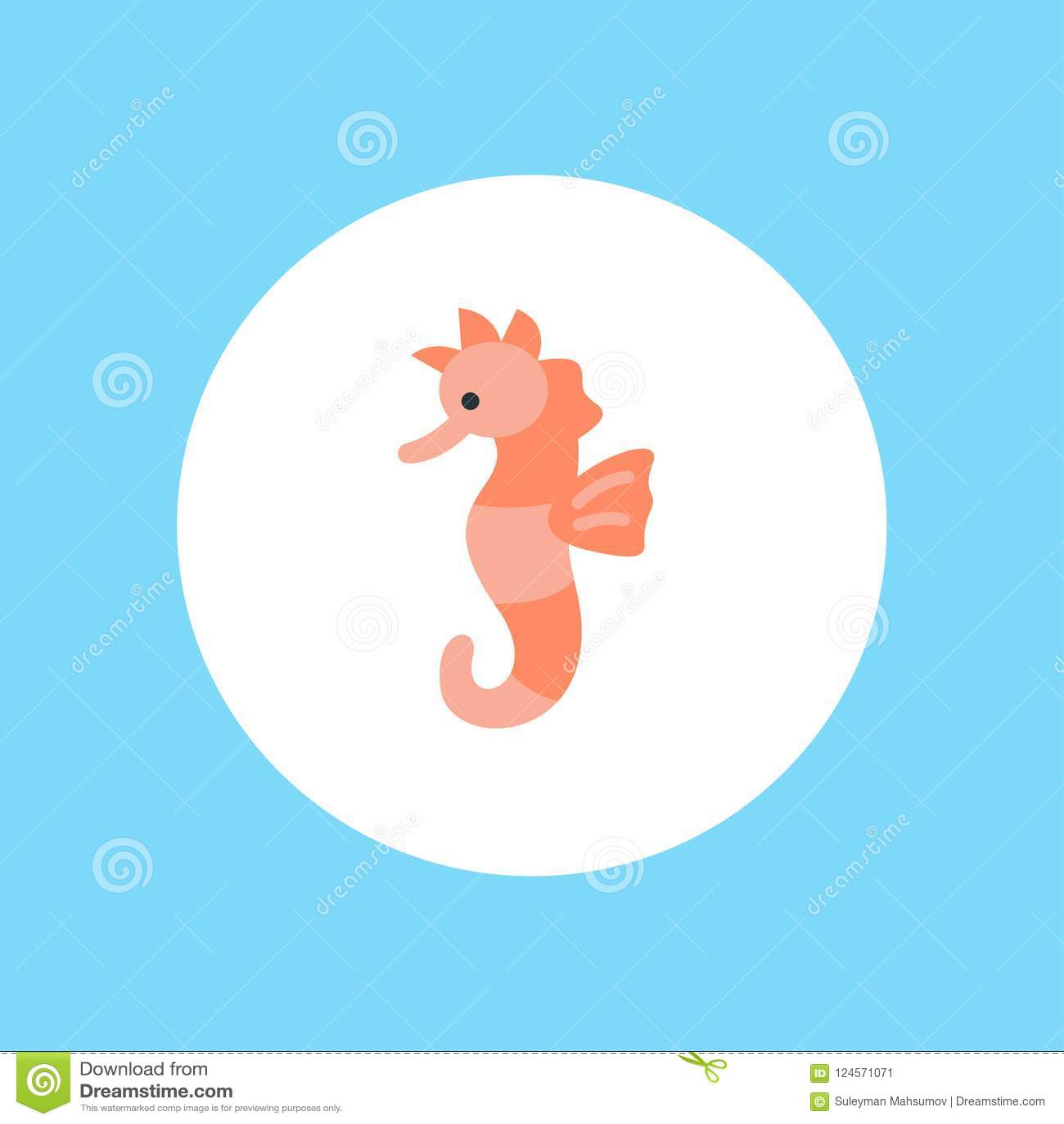 Διανυσματικό σύμβολο σημαδιών εικονιδίων Seahorse