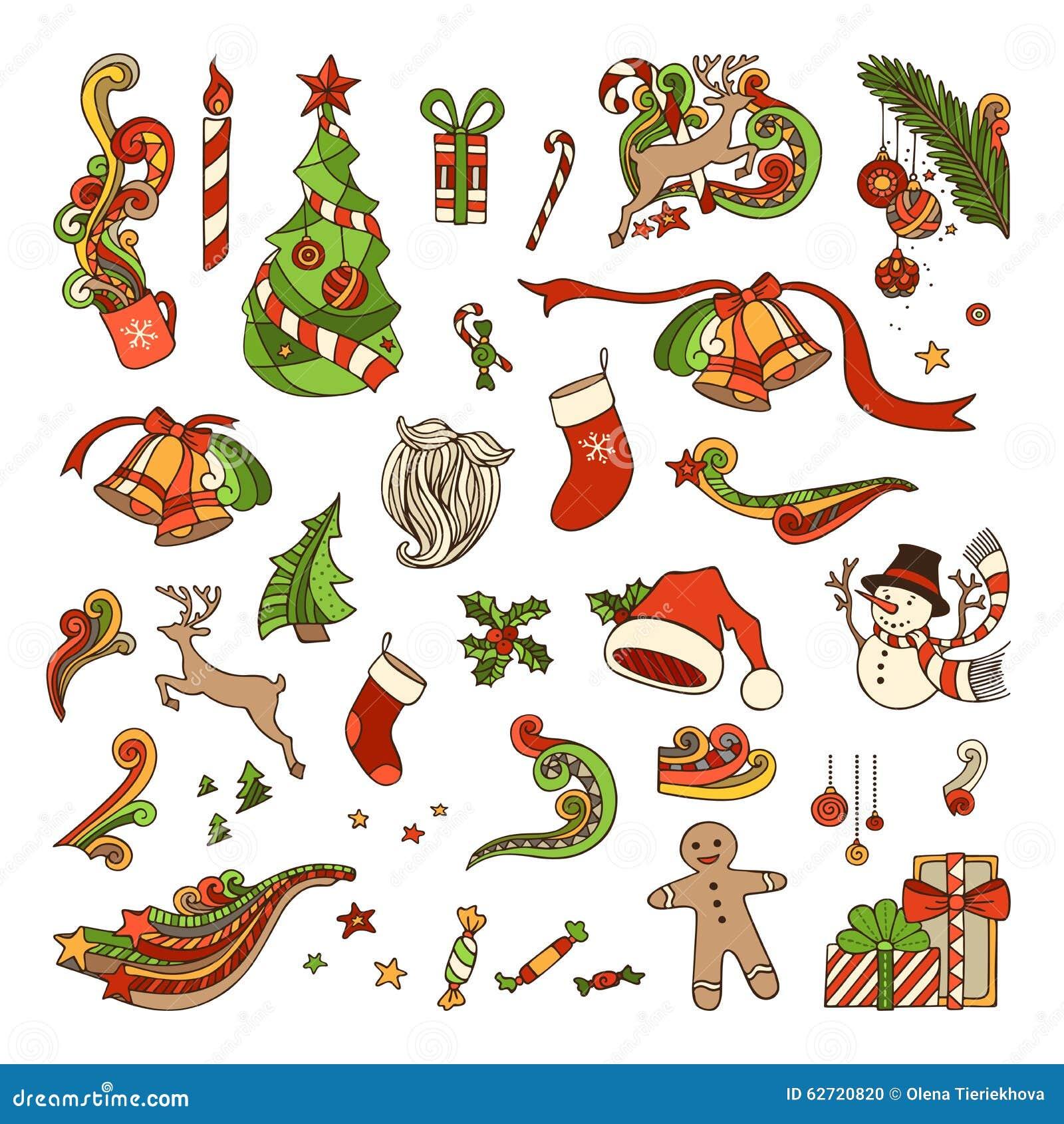 Διανυσματικό σύνολο αντικειμένων Χριστουγέννων