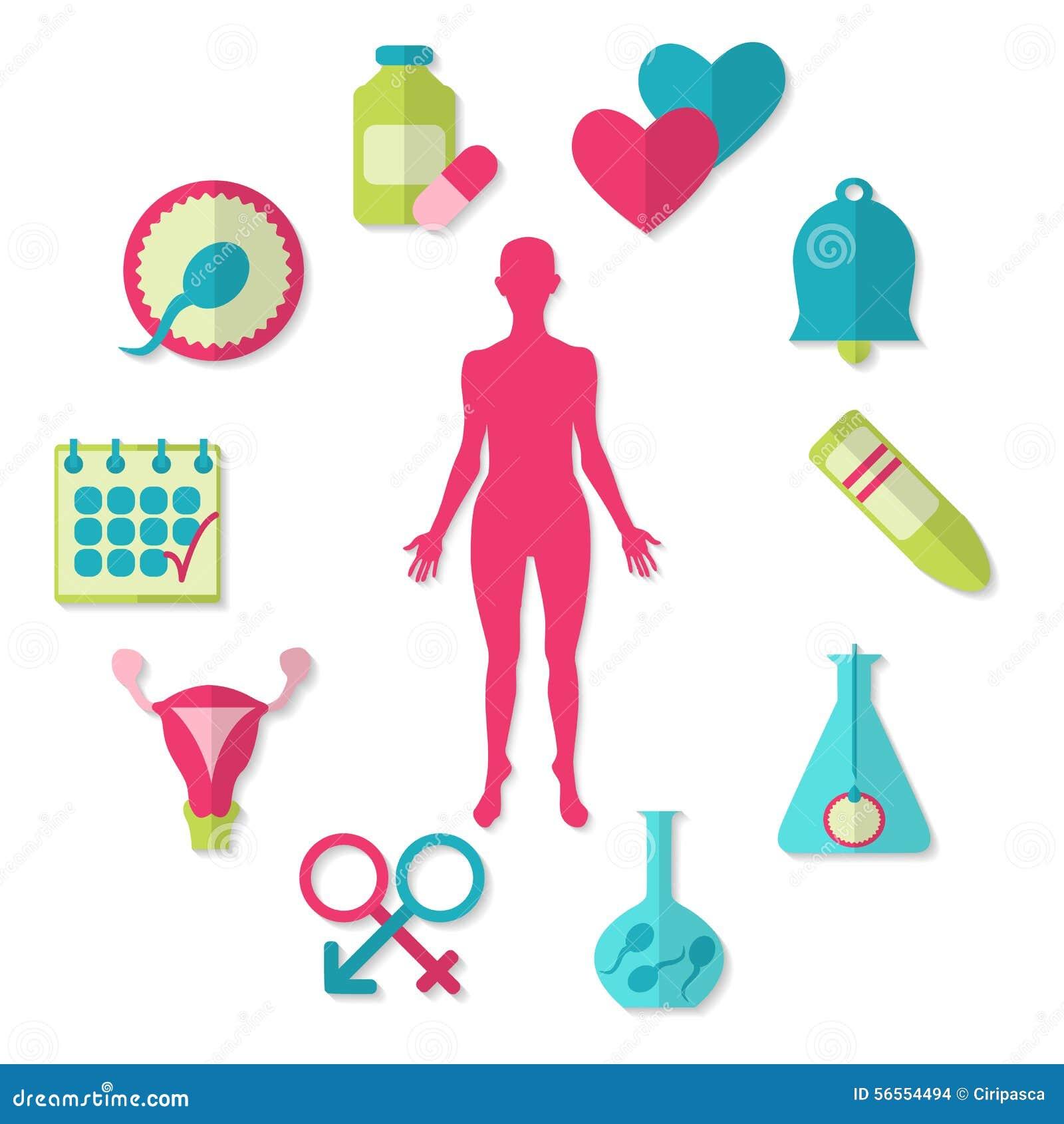 Download Διανυσματικό σύνολο εικονιδίων γονιμότητας στο λευκό Διανυσματική απεικόνιση - εικονογραφία από αντισύλληψη, ιατρικός: 56554494