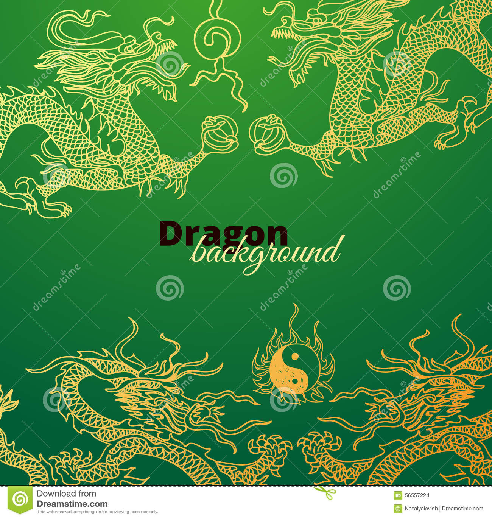 Download Διανυσματικό υπόβαθρο με τους δράκους της Ασίας συρμένο χέρι Διανυσματική απεικόνιση - εικονογραφία από απαγορευμένα, ancientness: 56557224