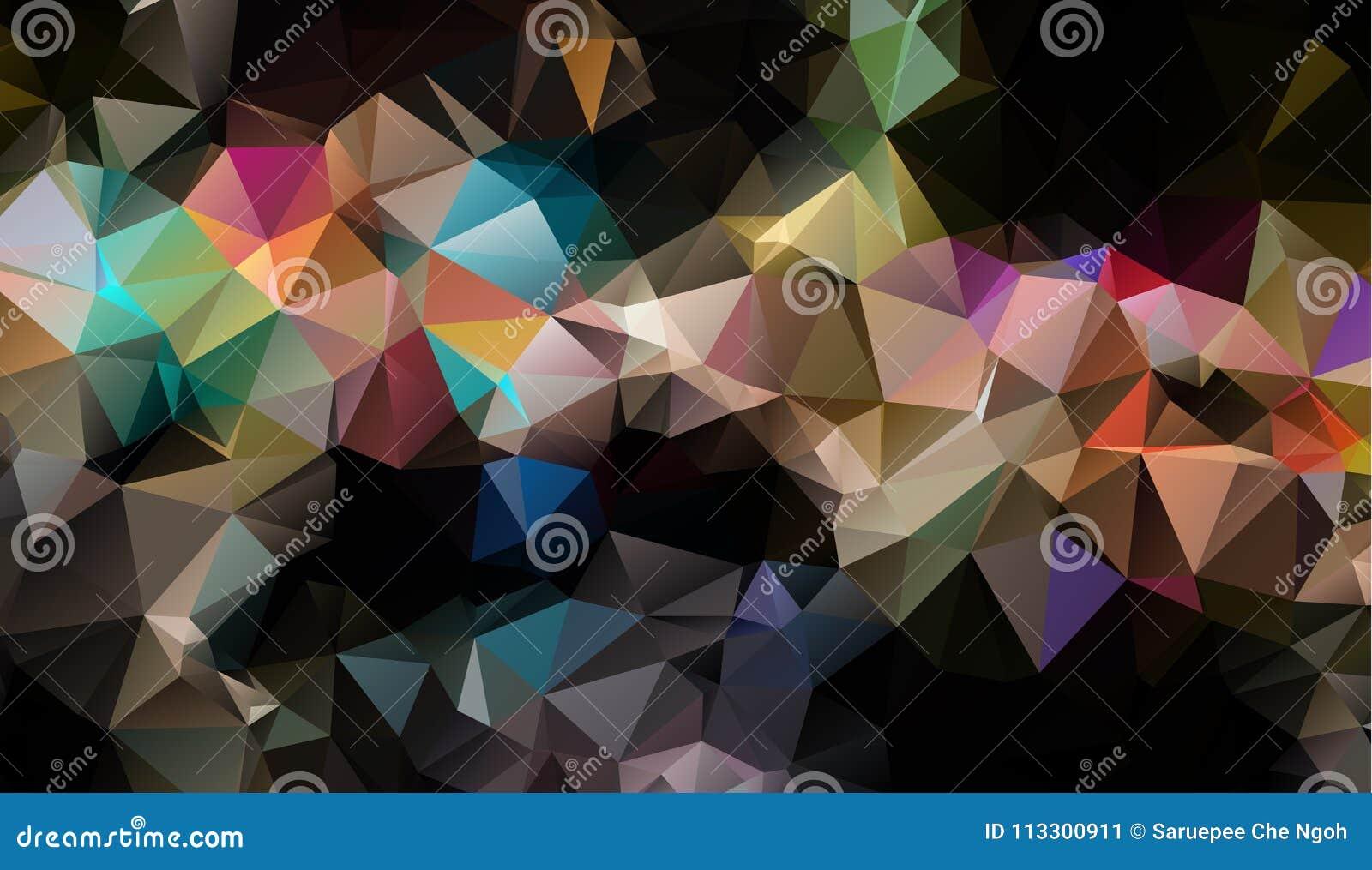 Διανυσματικό υπόβαθρο τριγώνων πολυγώνων αφηρημένο σύγχρονο Polygonal γεωμετρικό Σκοτεινό γεωμετρικό υπόβαθρο τριγώνων